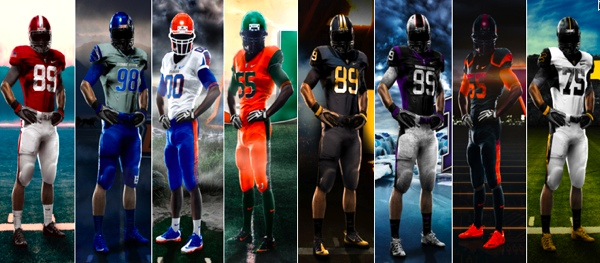 ... College Football Jerseys Unveiled. 0 of 10. Nike Pro Combat Uniforms 2d68986a9