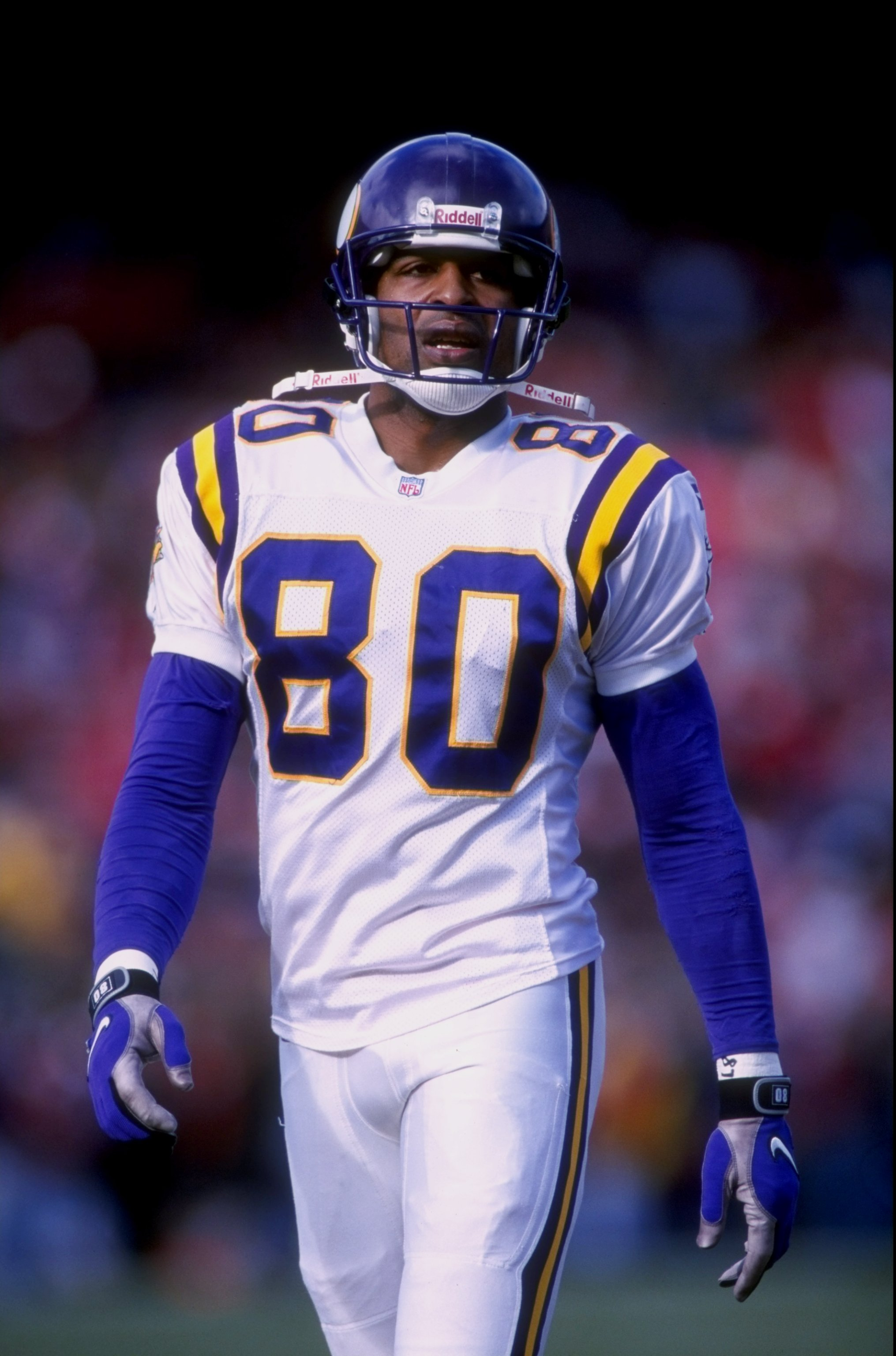 3 Jan 1998: Wide receiver Cris Carter #80 of the Minnesota Vikings during the Vikings 38-22 loss to the San Francisco 49ers at 3 Com Park in San Francisco, California.