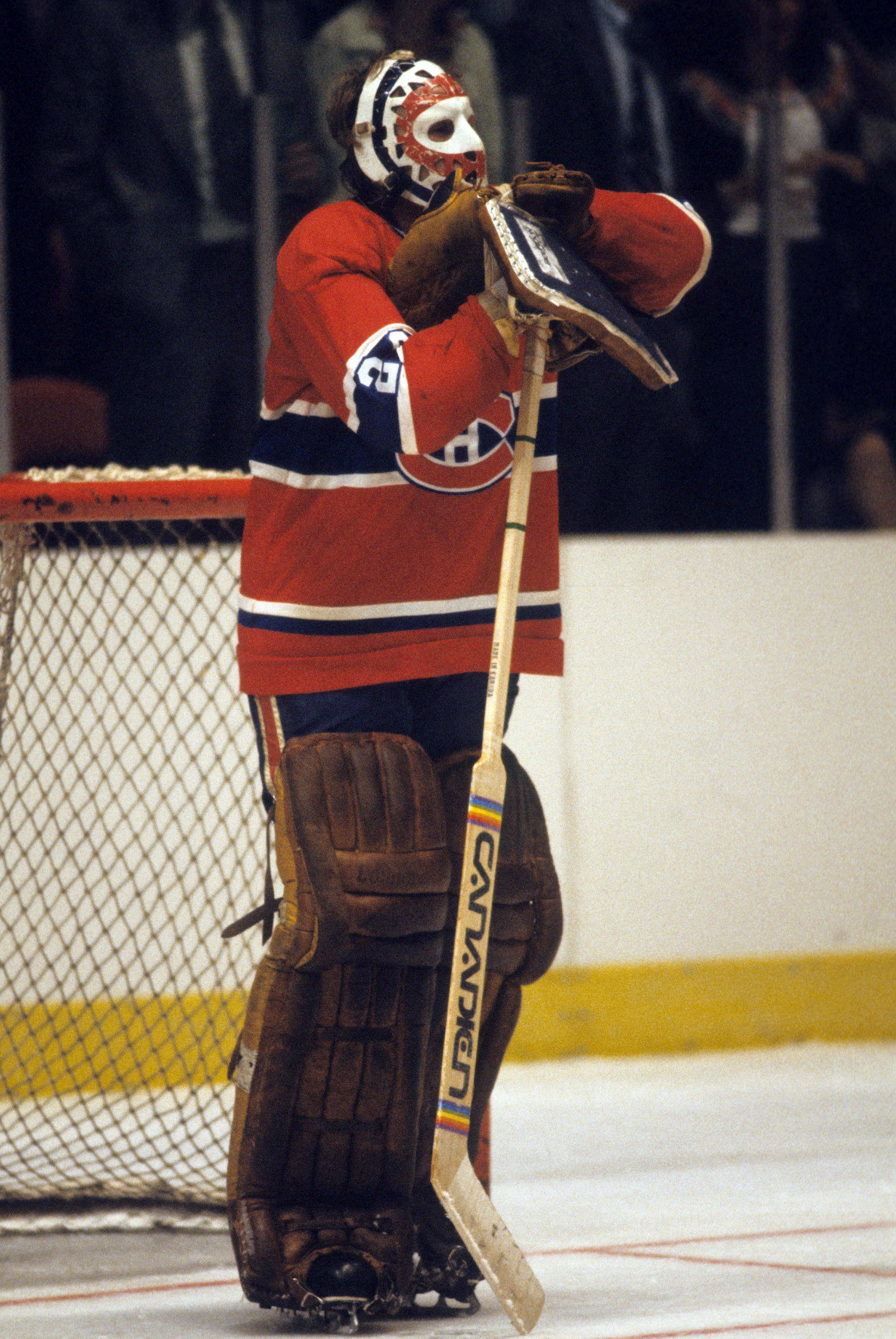 CIRCA 1970: Goaltender Ken Dryden #29 of the Montreal Canadiens stands on the ice during a game in Circa 1970 (Photo by Bruce Bennett/Getty Images)