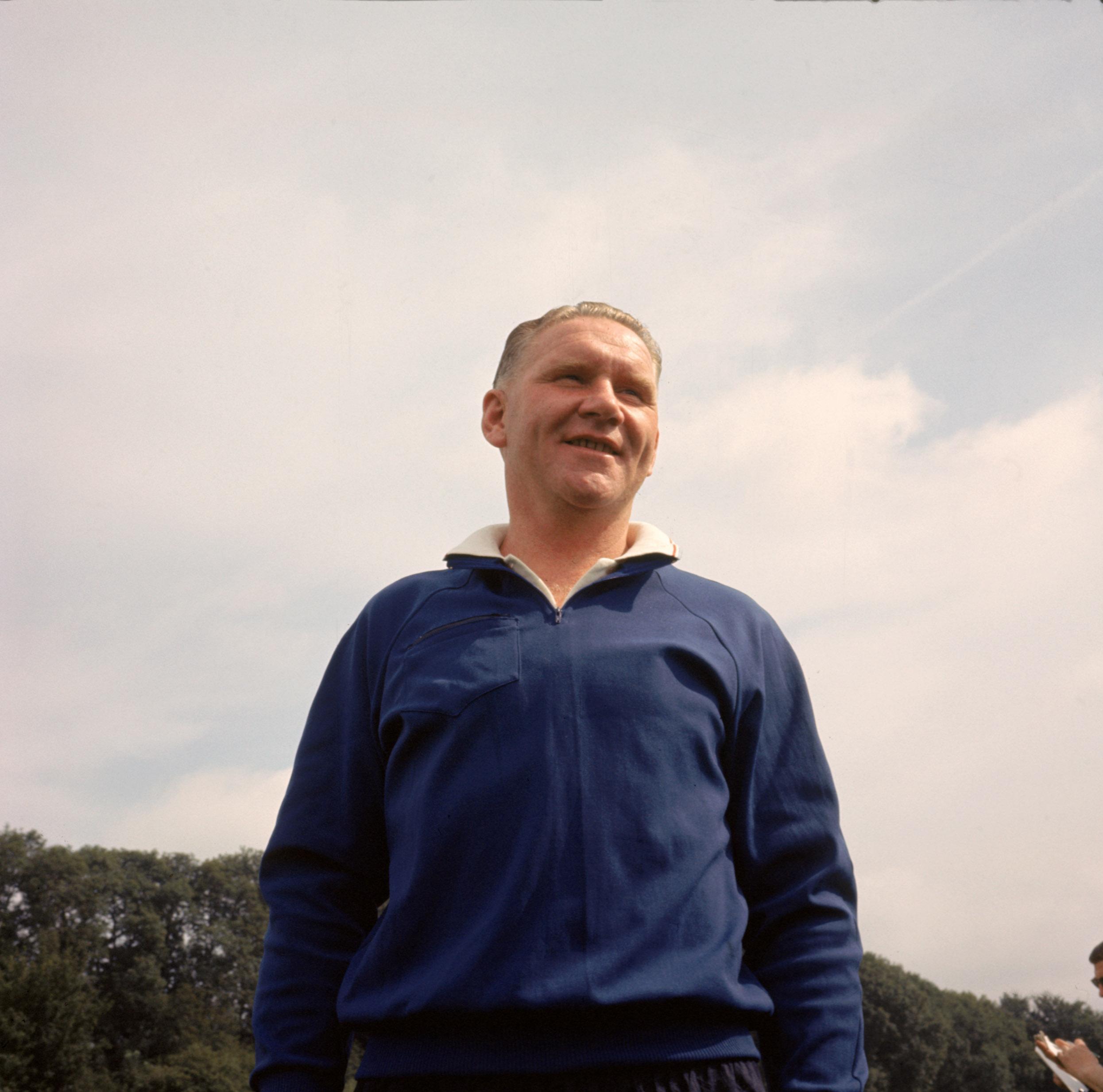 1965:  Tottenham Hotspur manager Bill Nicholson. \ Mandatory Credit:  Don Morley/Allsport