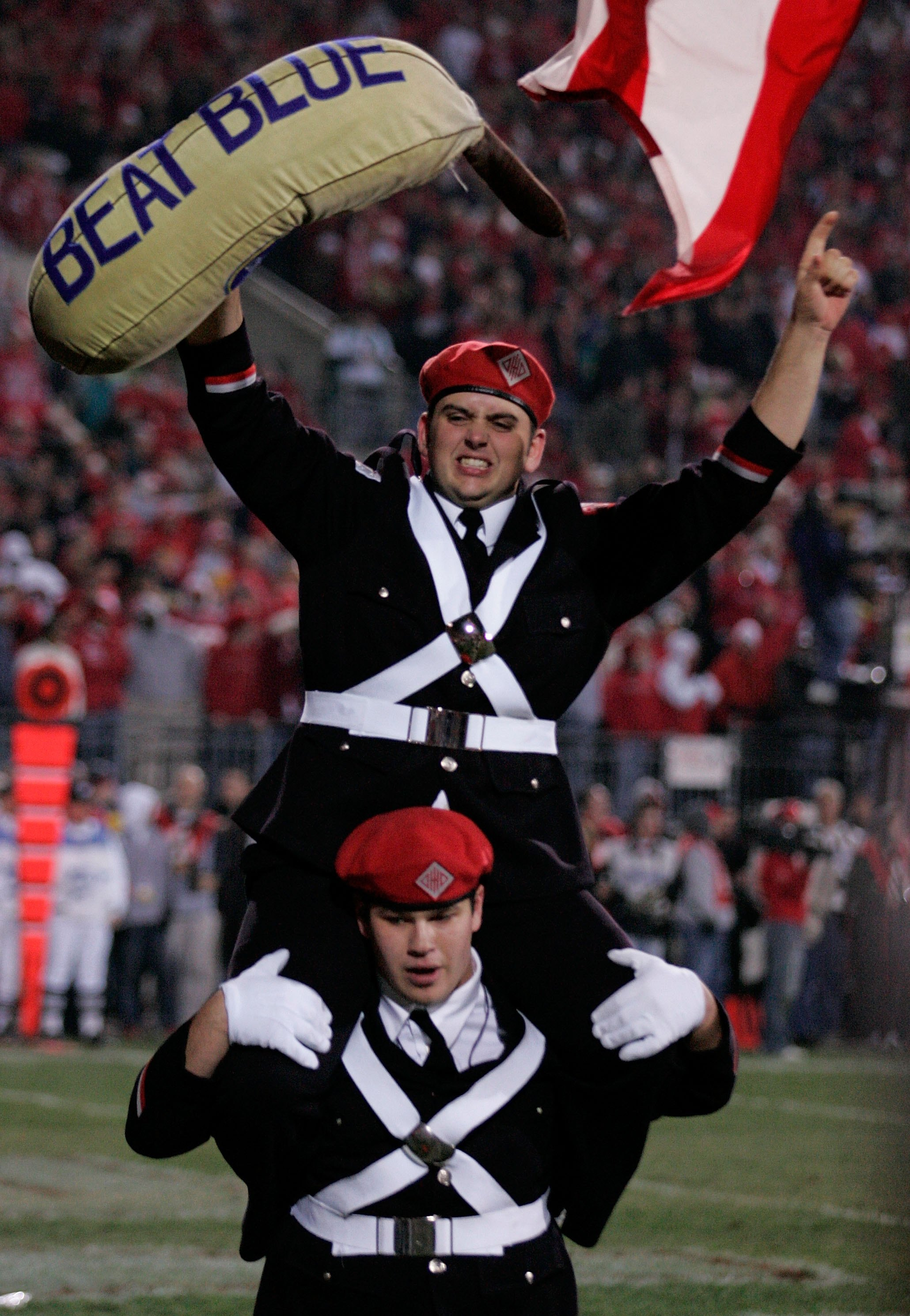 COLUMBUS, OH - NOVEMBER 18:  Bands members of the Ohio State Buckeyes support their team against the Michigan Wolverines November 18, 2006 at Ohio Stadium in Columbus, Ohio. Ohio State won 42-39. (Photo by Gregory Shamus/Getty Images)