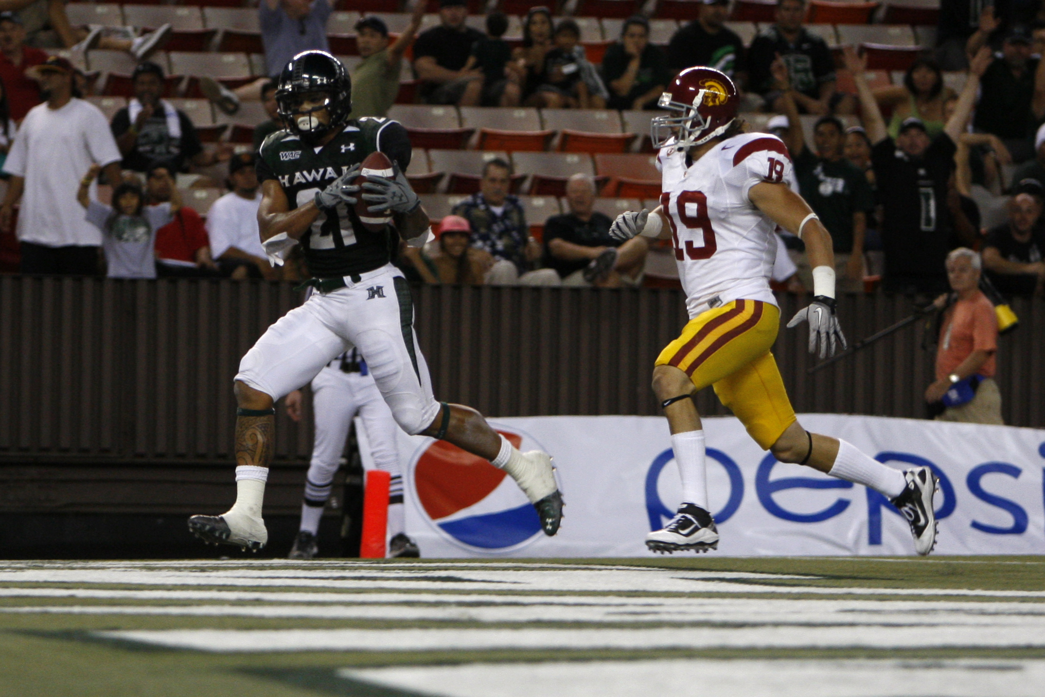 The Trojan defense gave up way too many points and yards against Hawaii.