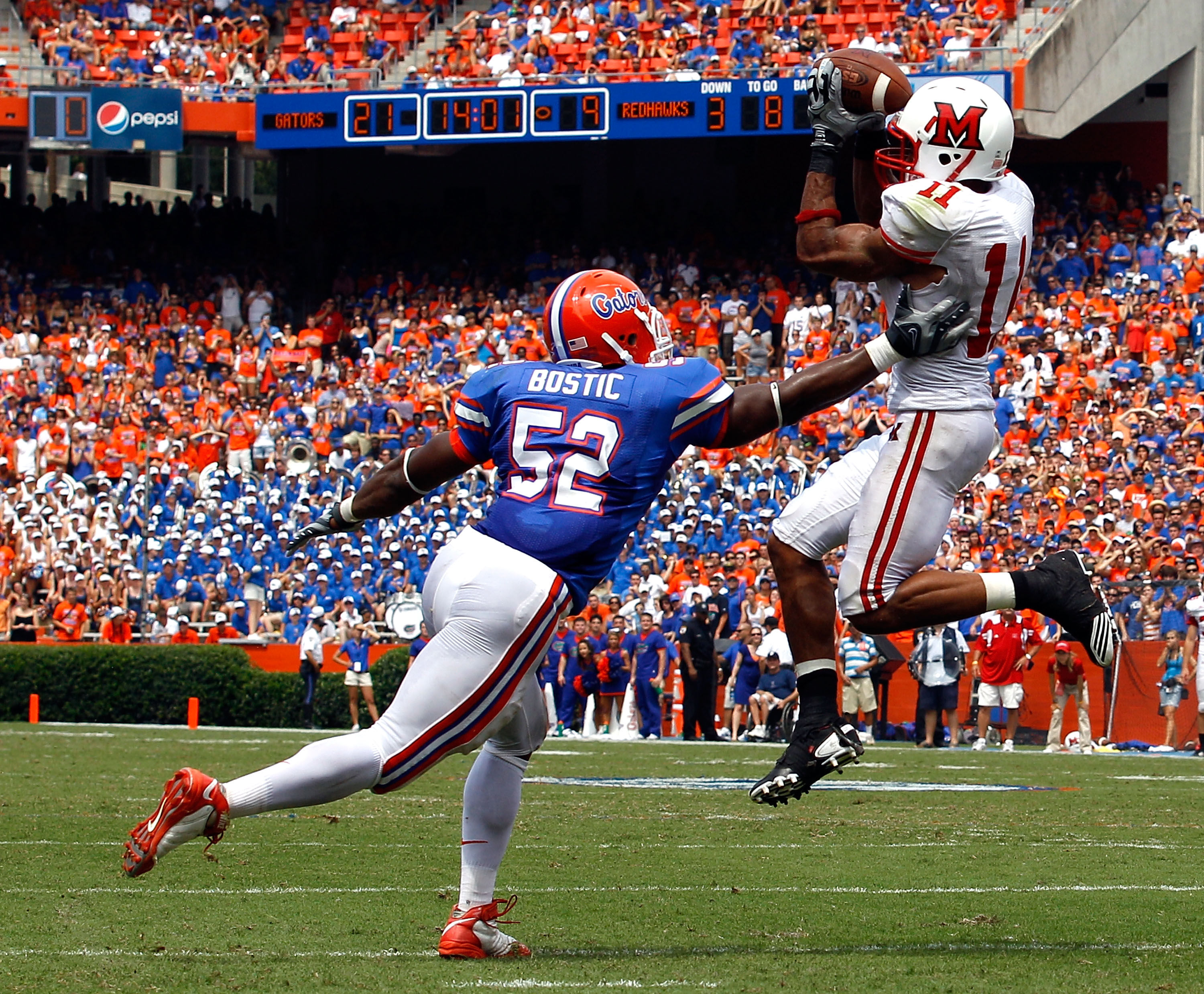 Miami of Ohio held its own against Florida, which is bad news for the highly over-rated Gators.