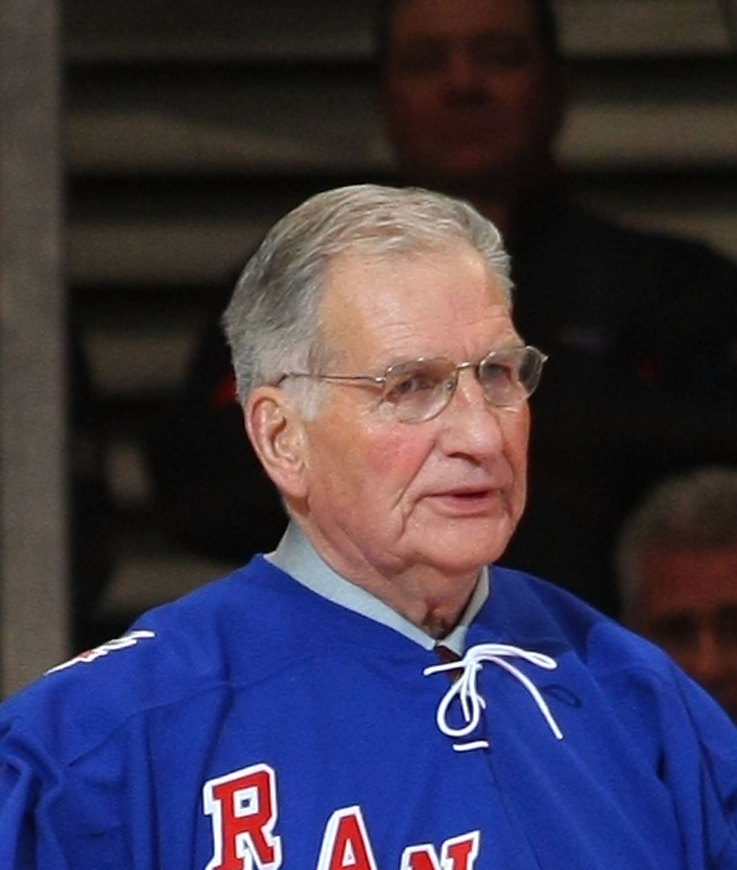 NEW YORK - FEBRUARY 22: Former New York Ranger Larry Popein attends the ceremony honoring Andy Bathgate and Harry Howell prior to the game between the Toronto Maple Leafs and the New York Rangers on February 22, 2009 at Madison Square Garden in New York C