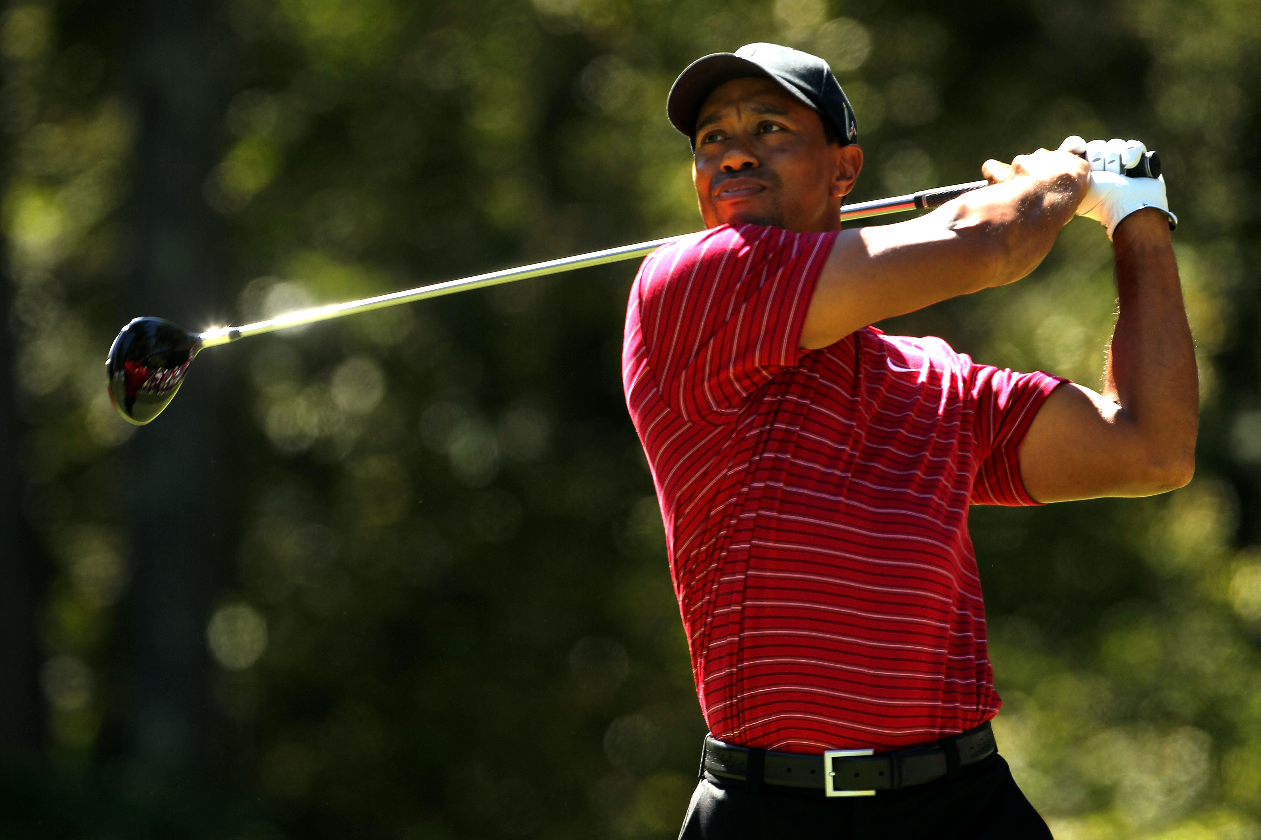 NORTON, MA - SEPTEMBER 06:  Tiger Woods tees off on the second hole during the final round of the Deutsche Bank Championship at TPC Boston on September 6, 2010 in Norton, Massachusetts.  (Photo by Mike Ehrmann/Getty Images)