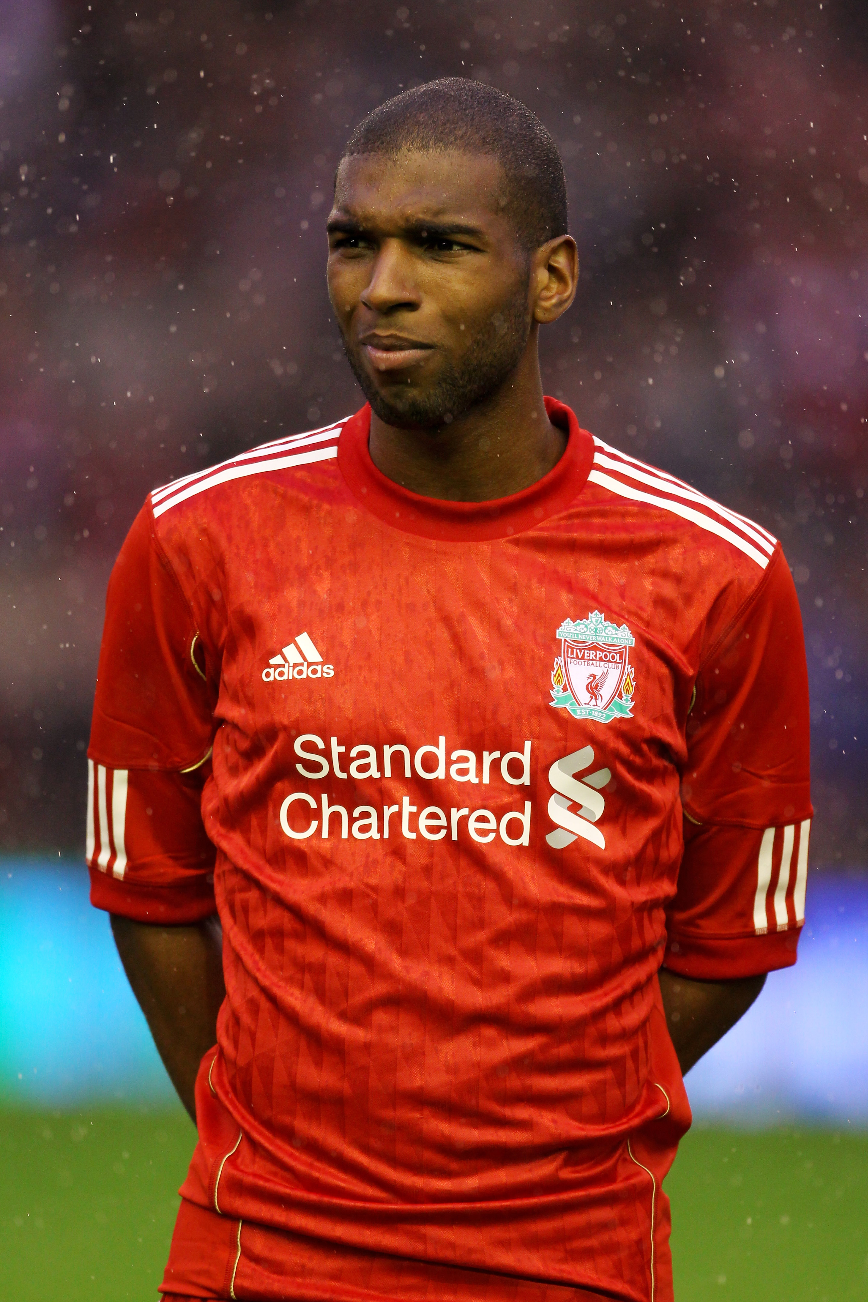LIVERPOOL, ENGLAND - AUGUST 19:  Ryan Babel of Liverpool looks on prior to the UEFA Europa League play-off first leg match beteween Liverpool and Trabzonspor at Anfield on August 19, 2010 in Liverpool, England.  (Photo by Alex Livesey/Getty Images)