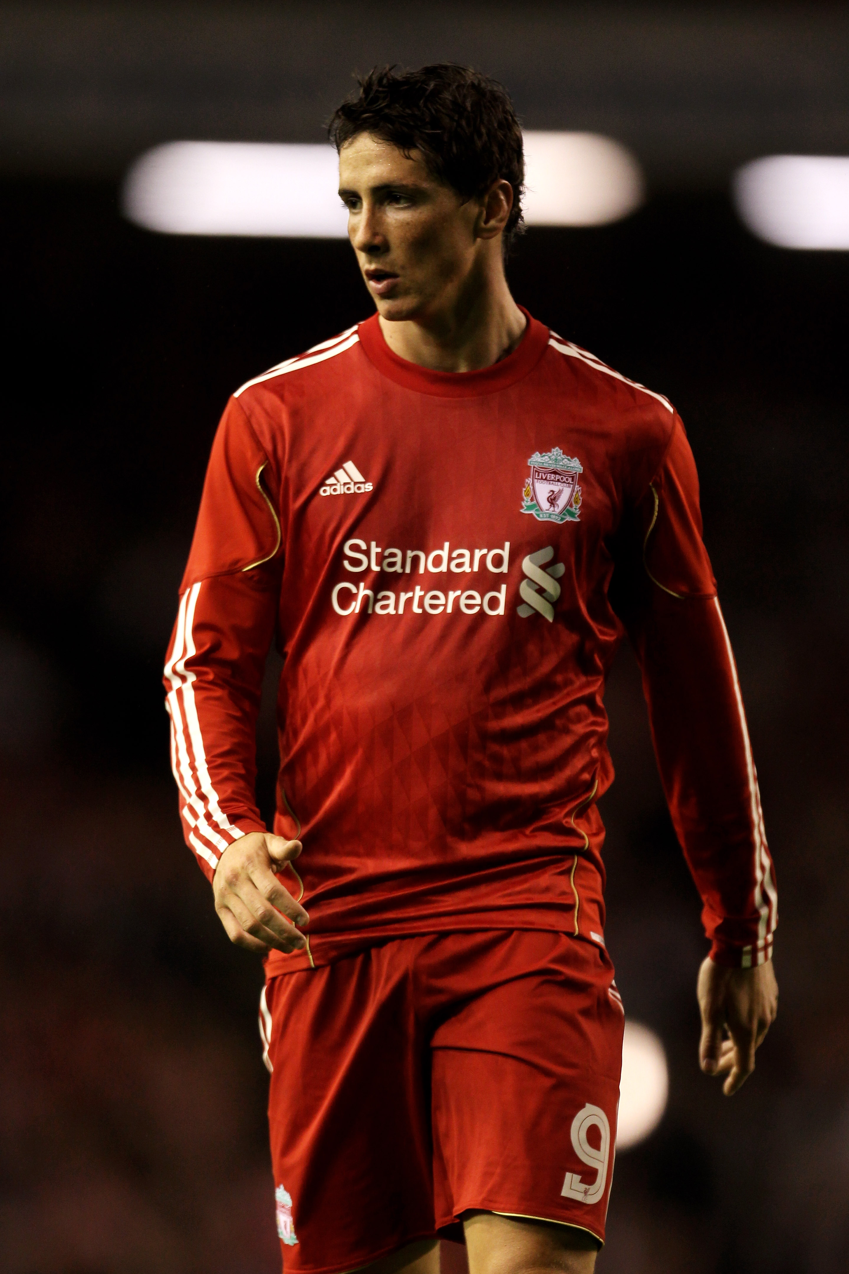LIVERPOOL, ENGLAND - AUGUST 19:  Fernando Torres of Liverpool in action during the UEFA Europa League play-off first leg match beteween Liverpool and Trabzonspor at Anfield on August 19, 2010 in Liverpool, England.  (Photo by Alex Livesey/Getty Images)