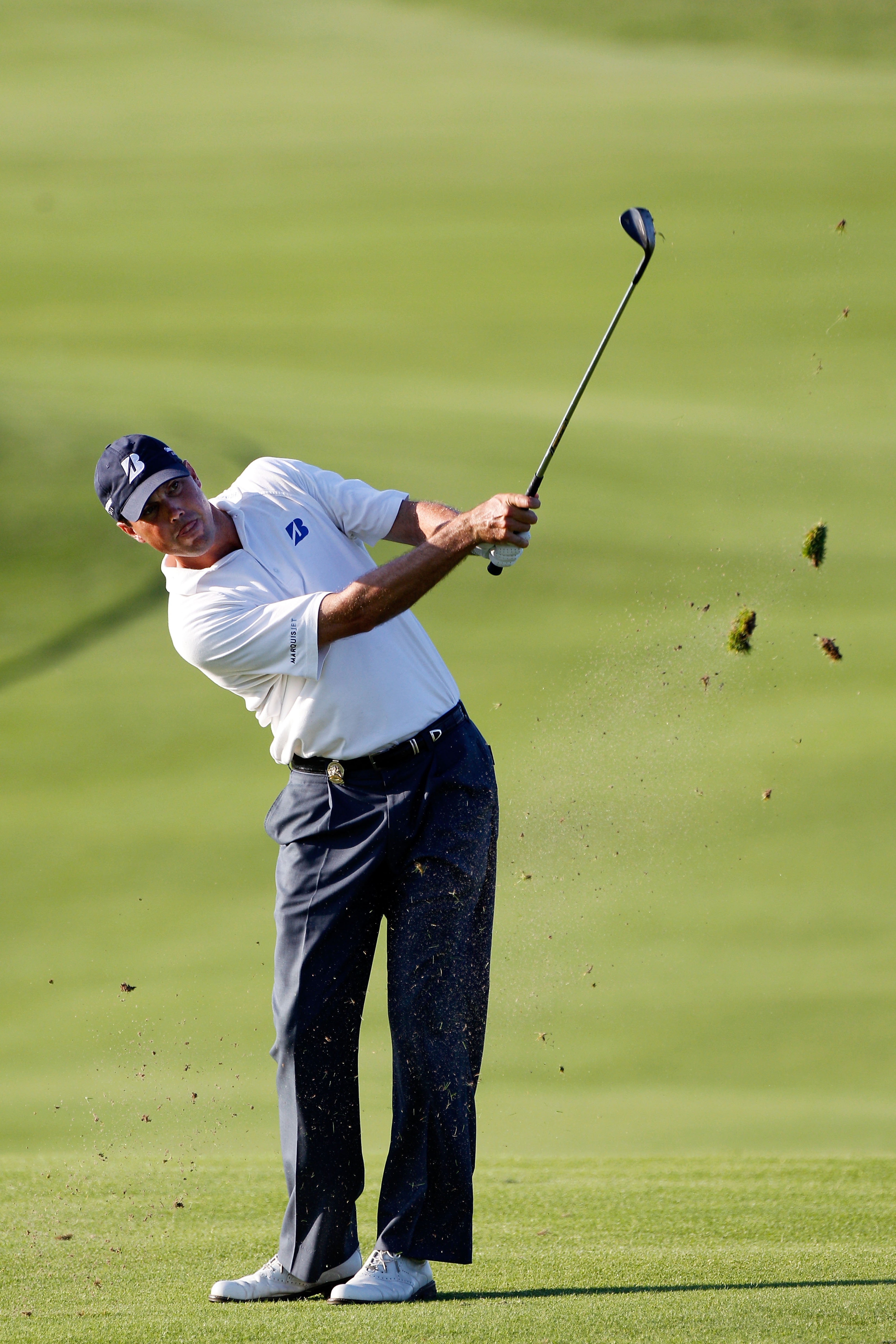 KOHLER, WI - AUGUST 14:  Matt Kuchar hits a shot during the third round of the 92nd PGA Championship on the Straits Course at Whistling Straits on August 14, 2010 in Kohler, Wisconsin.  (Photo by Sam Greenwood/Getty Images)