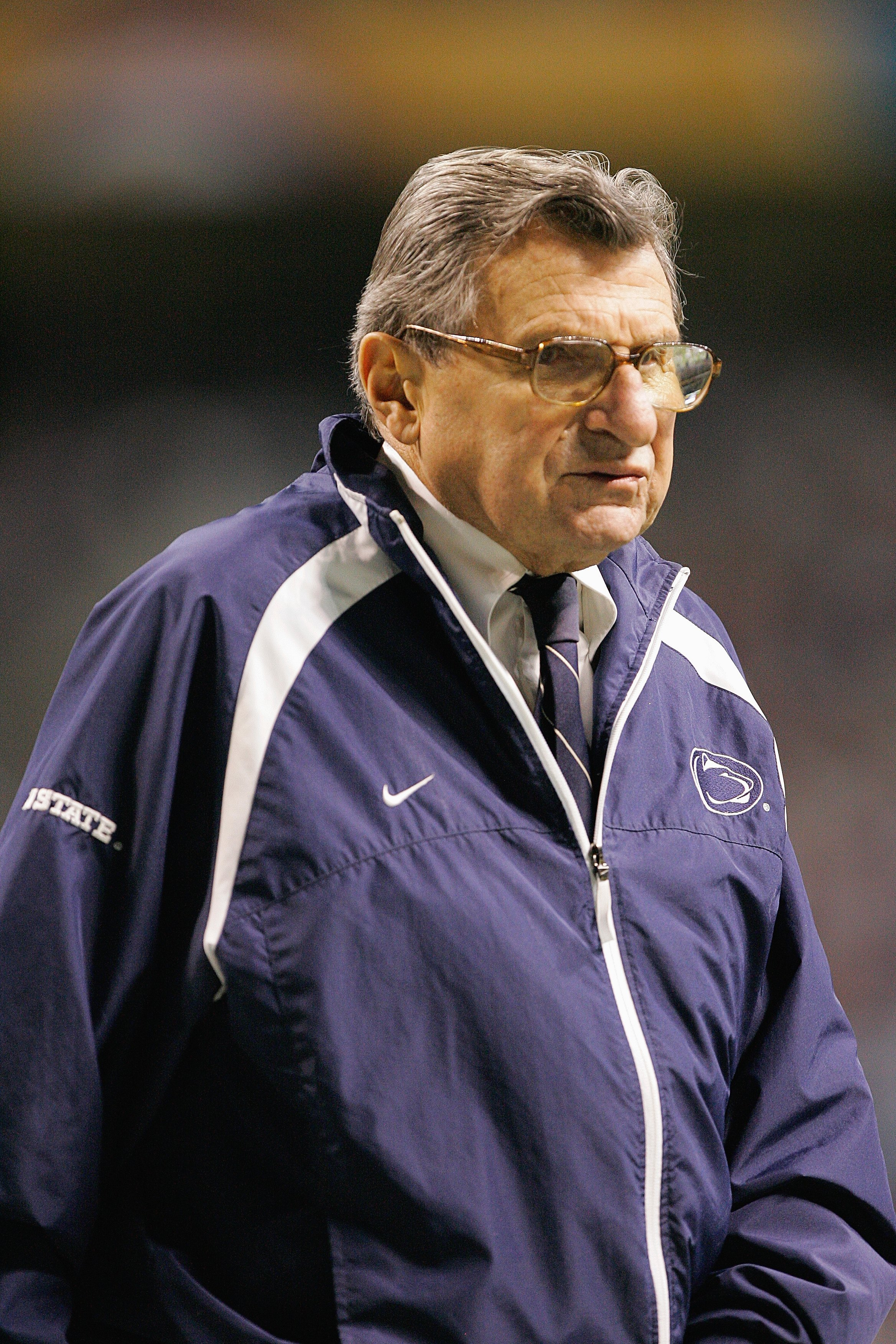 SAN ANTONIO - DECEMBER 29:  Head Coach Joe Paterno of the Penn State Nittany Lions looks on during the game against the Texas A&M Aggies during the Valero Alamo Bowl on December 29, 2007 at the Alamodome in San Antonio, Texas.  Penn State won 24-17.  (Pho