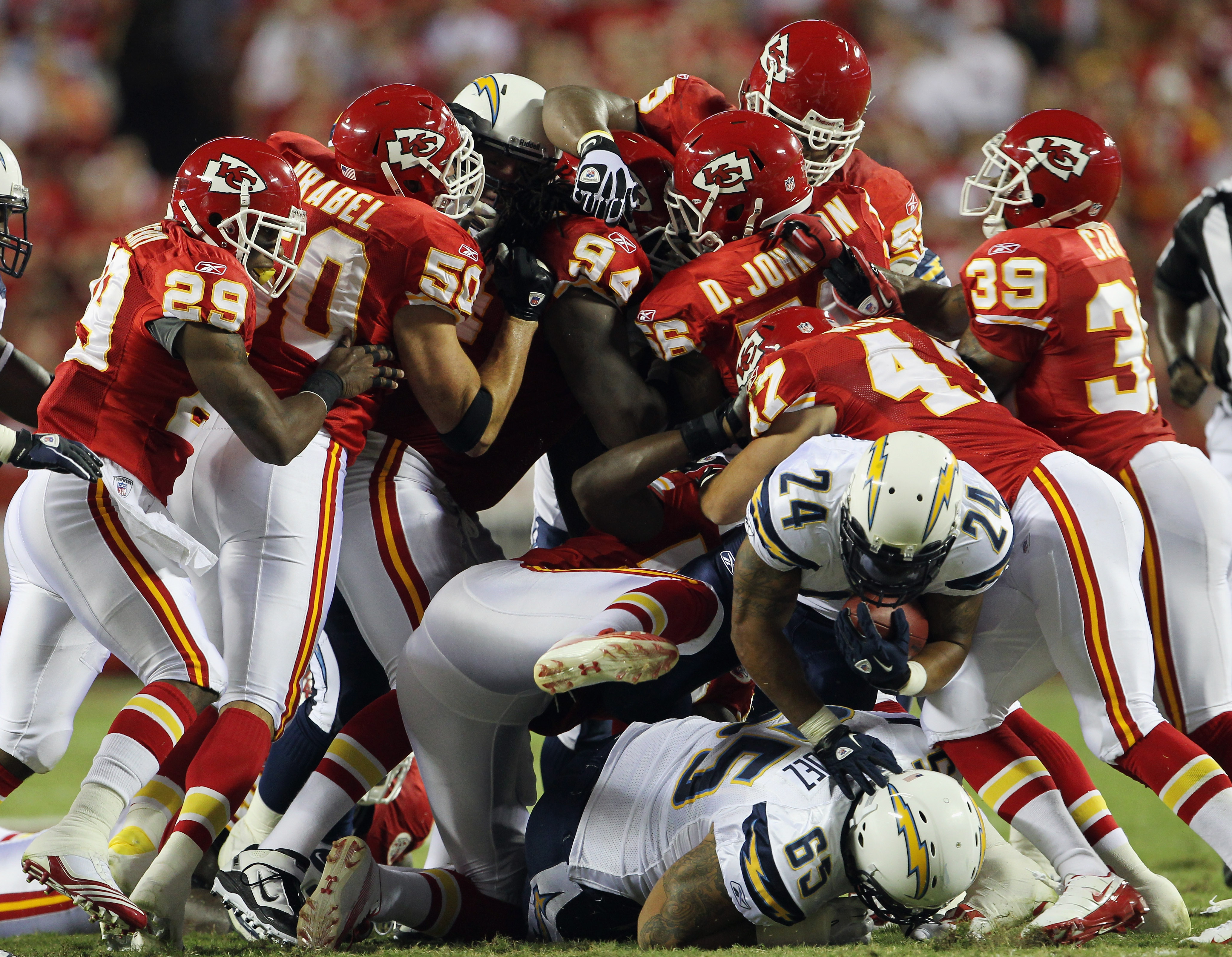 Chiefs upset the Chargers on Monday Night