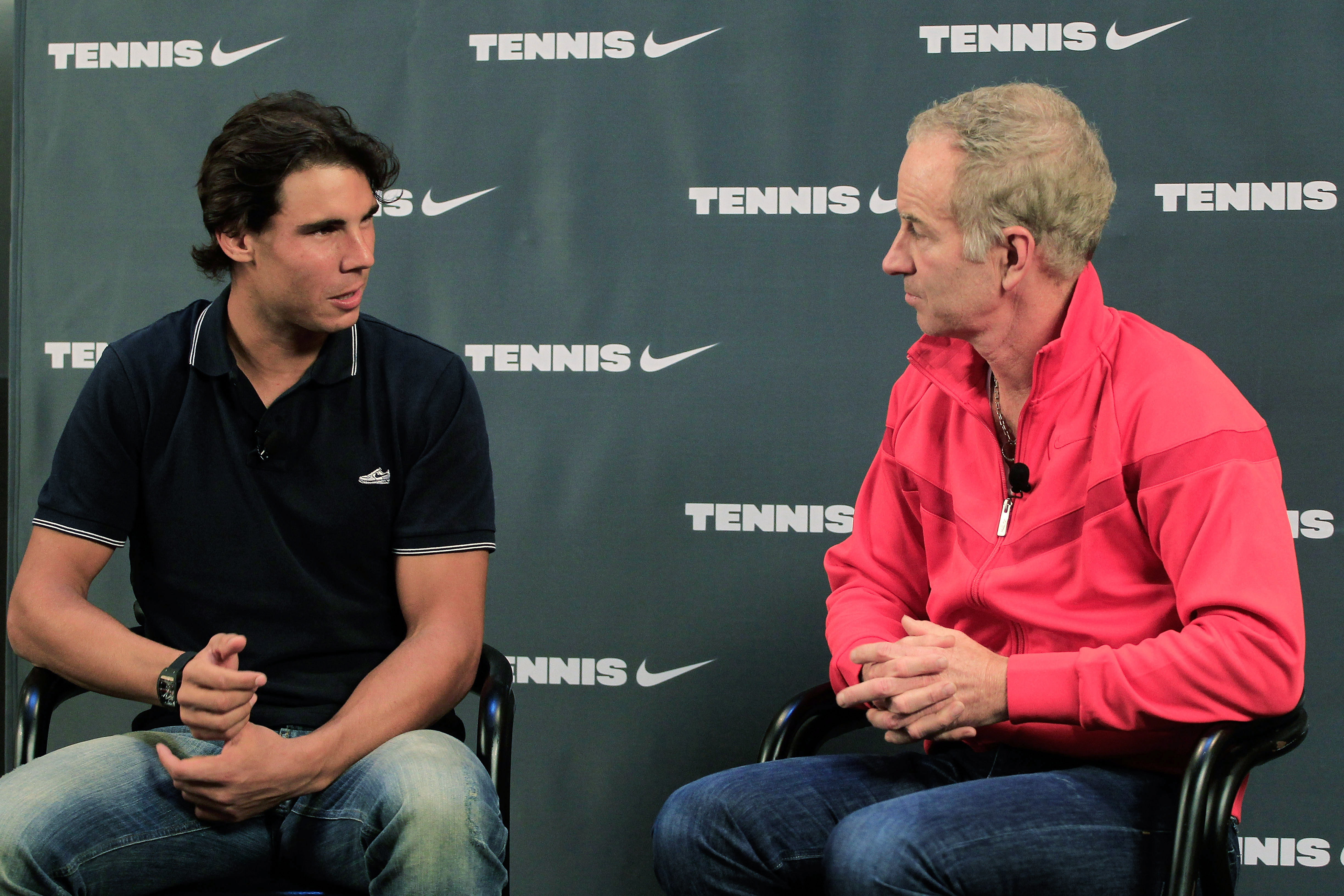 Nadal with McEnroe after the 2010 U.S. Open win