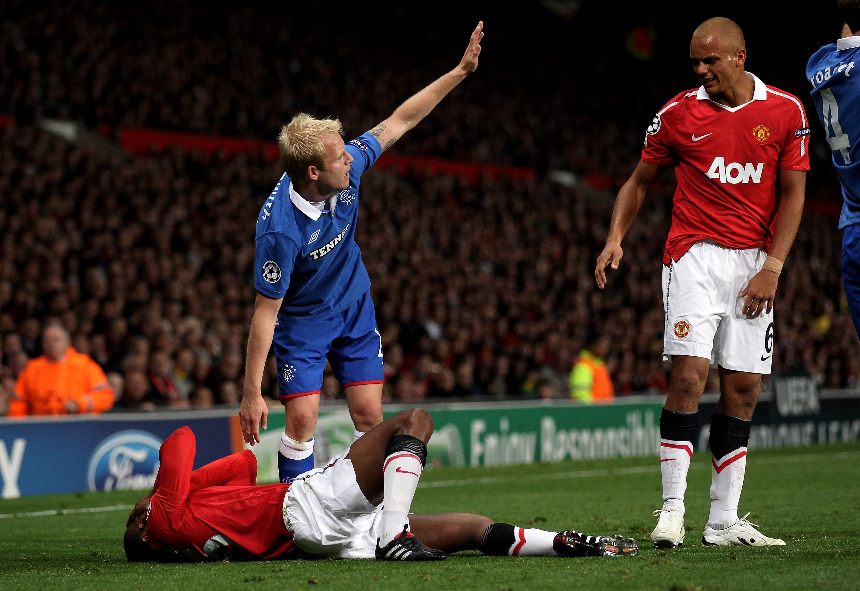 An injured Valencia writhing in Pain