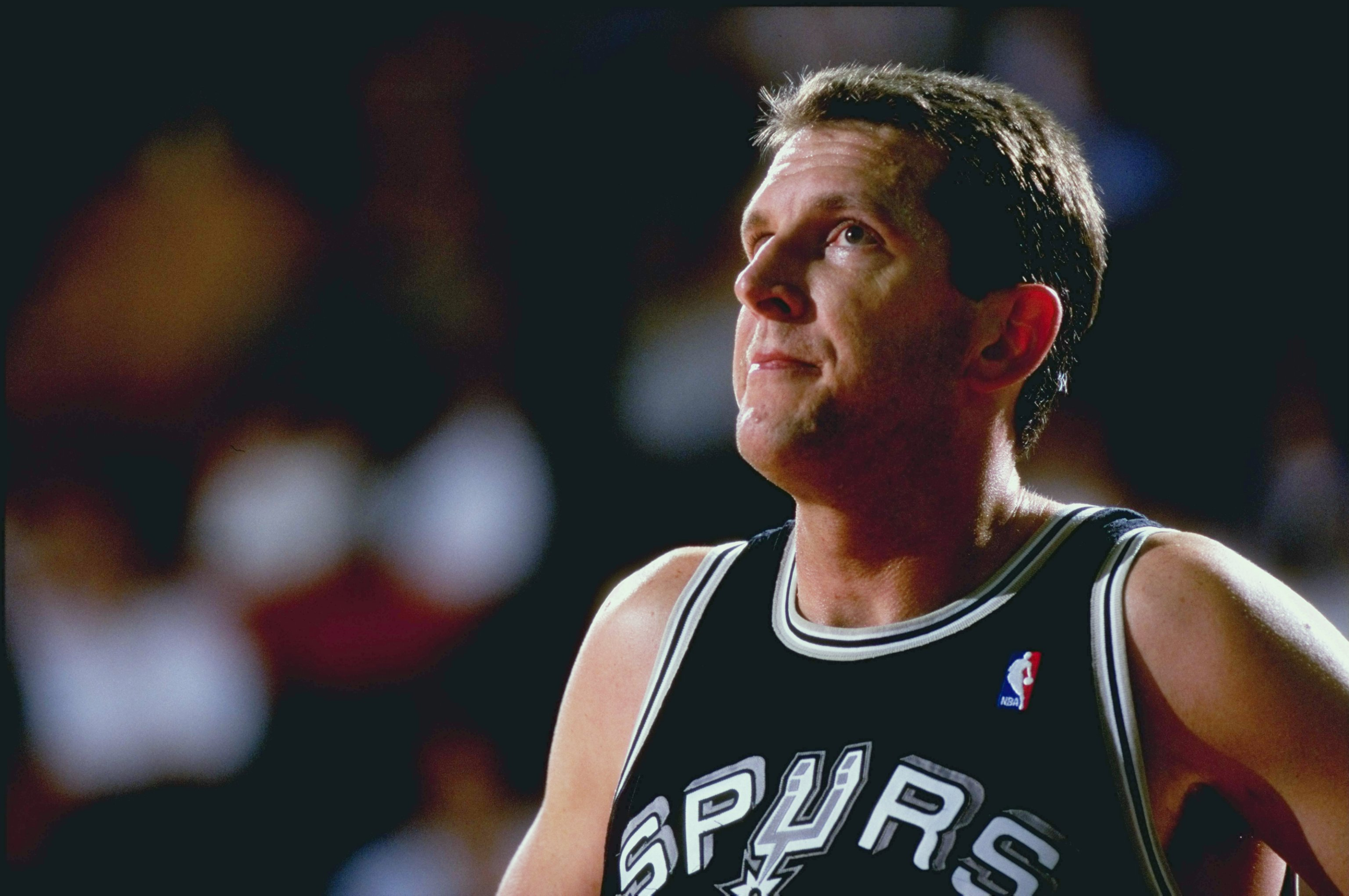 25 Mar 1999: Will Perdue #41 of the San Antonio Spurs looks on  during a game against the Denver Nuggets at the McNichols Sports Arena in Denver, Colorado. The Spurs defeated the Nuggets 86-65.