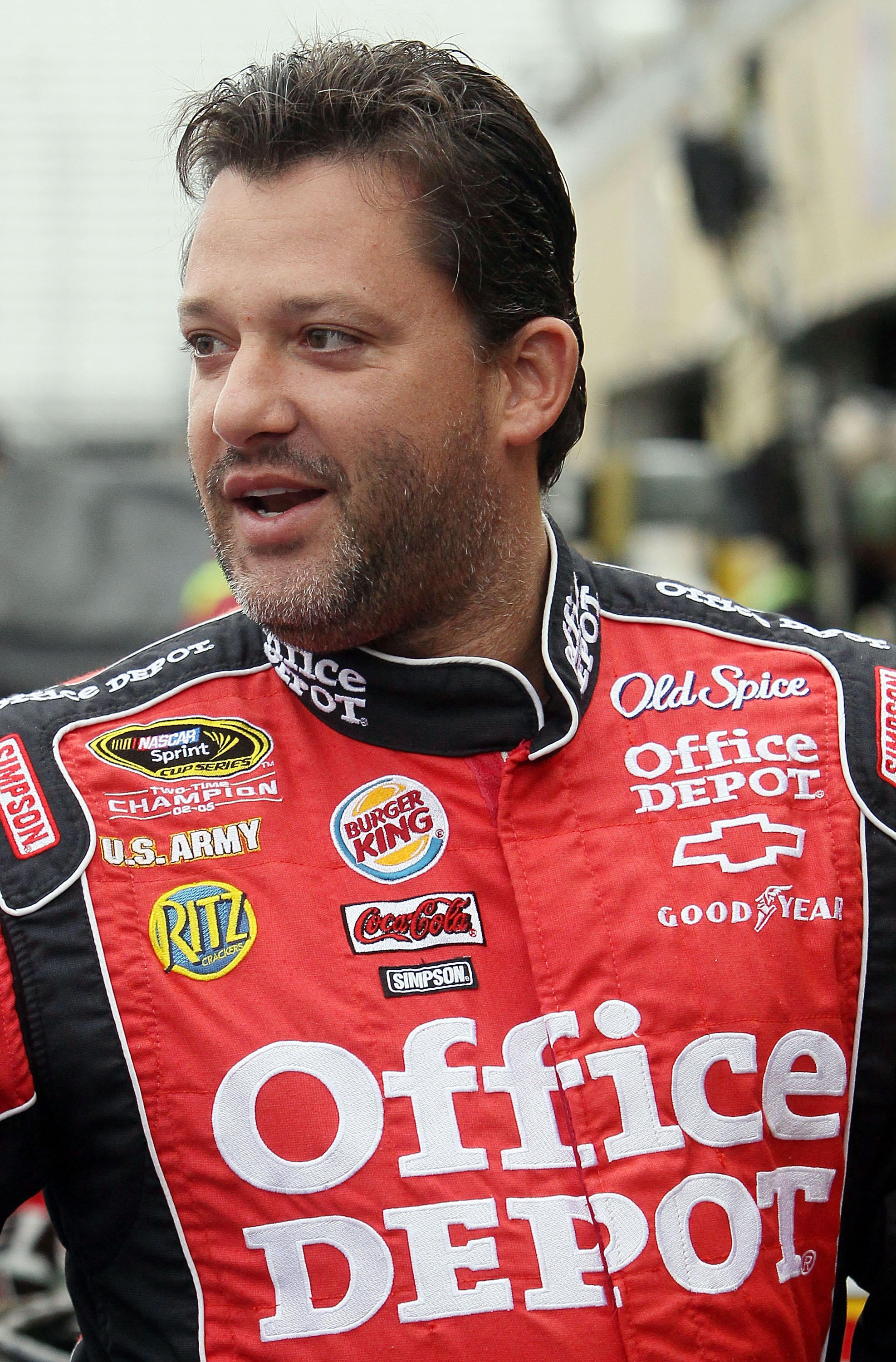LOUDON, NH - SEPTEMBER 17:  Tony Stewart, driver of the #14 Office Depot/Old Spice Chevrolet, looks on during practice for the NASCAR Sprint Cup Series Sylvania 300 at New Hampshire Motor Speedway on September 17, 2010 in Loudon, New Hampshire.  (Photo by