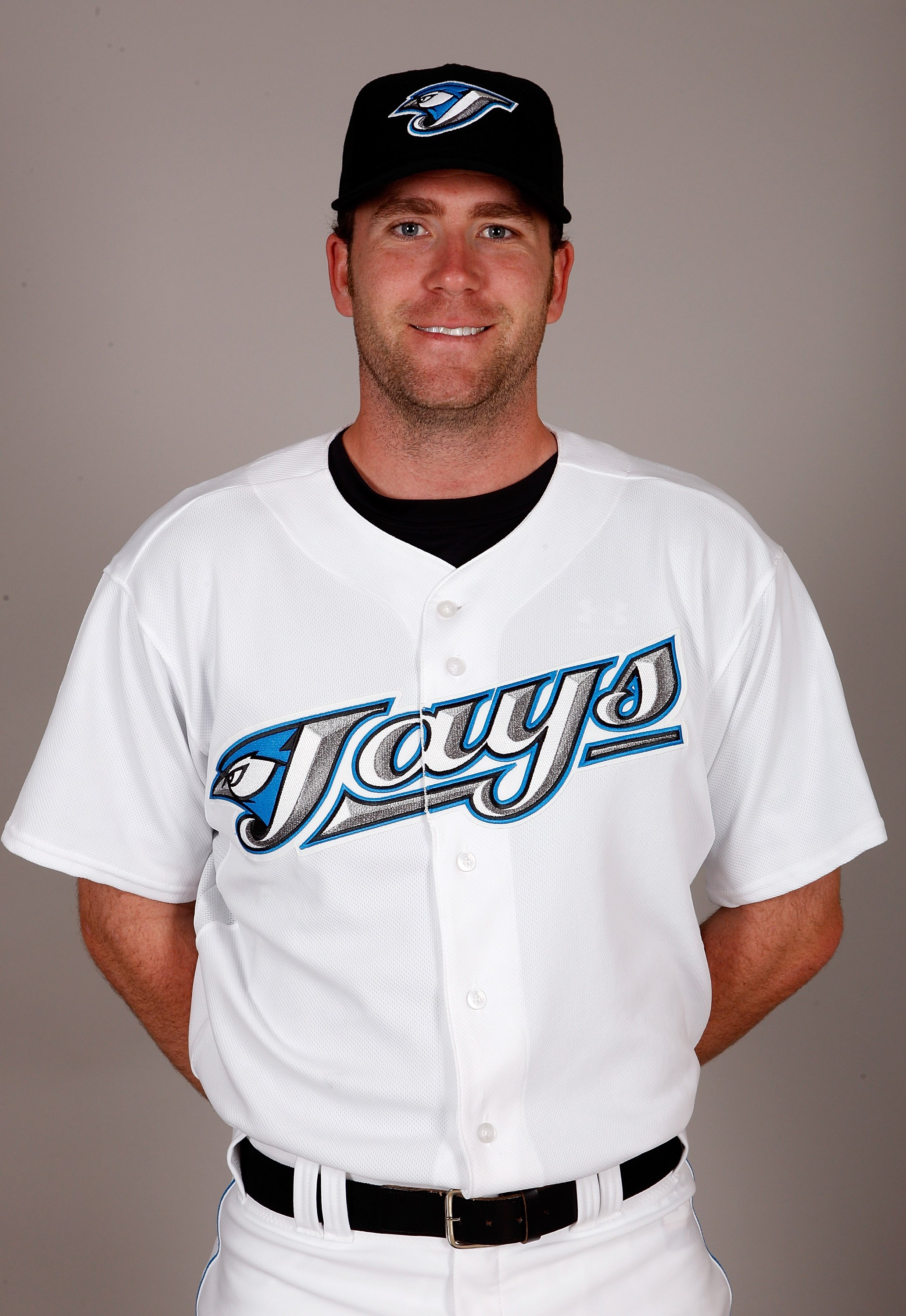 DUNEDIN, FL - FEBRUARY 23:  Casey Janssen #44 of the Toronto Blue Jays poses during photo day at the Bobby Mattick Training Center at Englebert Complex on February 23, 2009 in Dunedin, Florida.  (Photo by J. Meric/Getty Images)