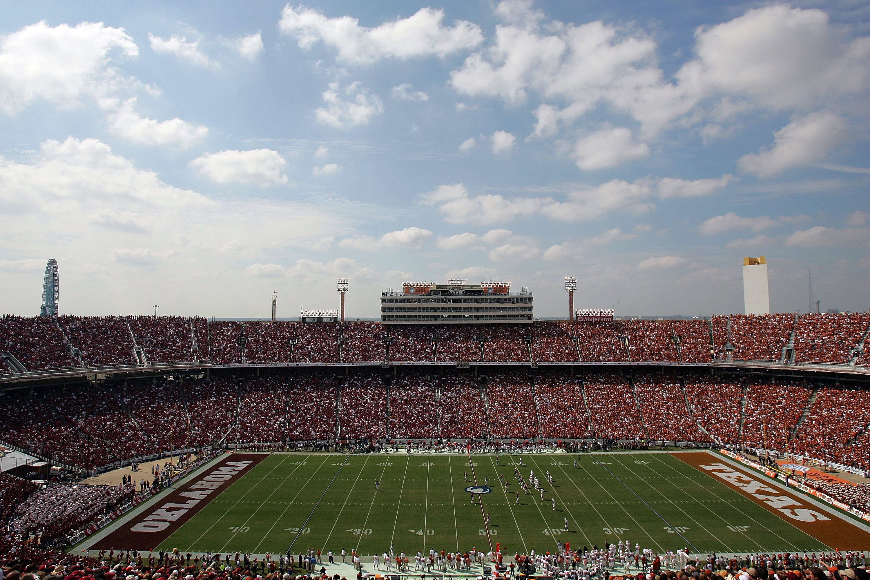 The Cotton Bowl is the venue for the annual Red River Rivalry.