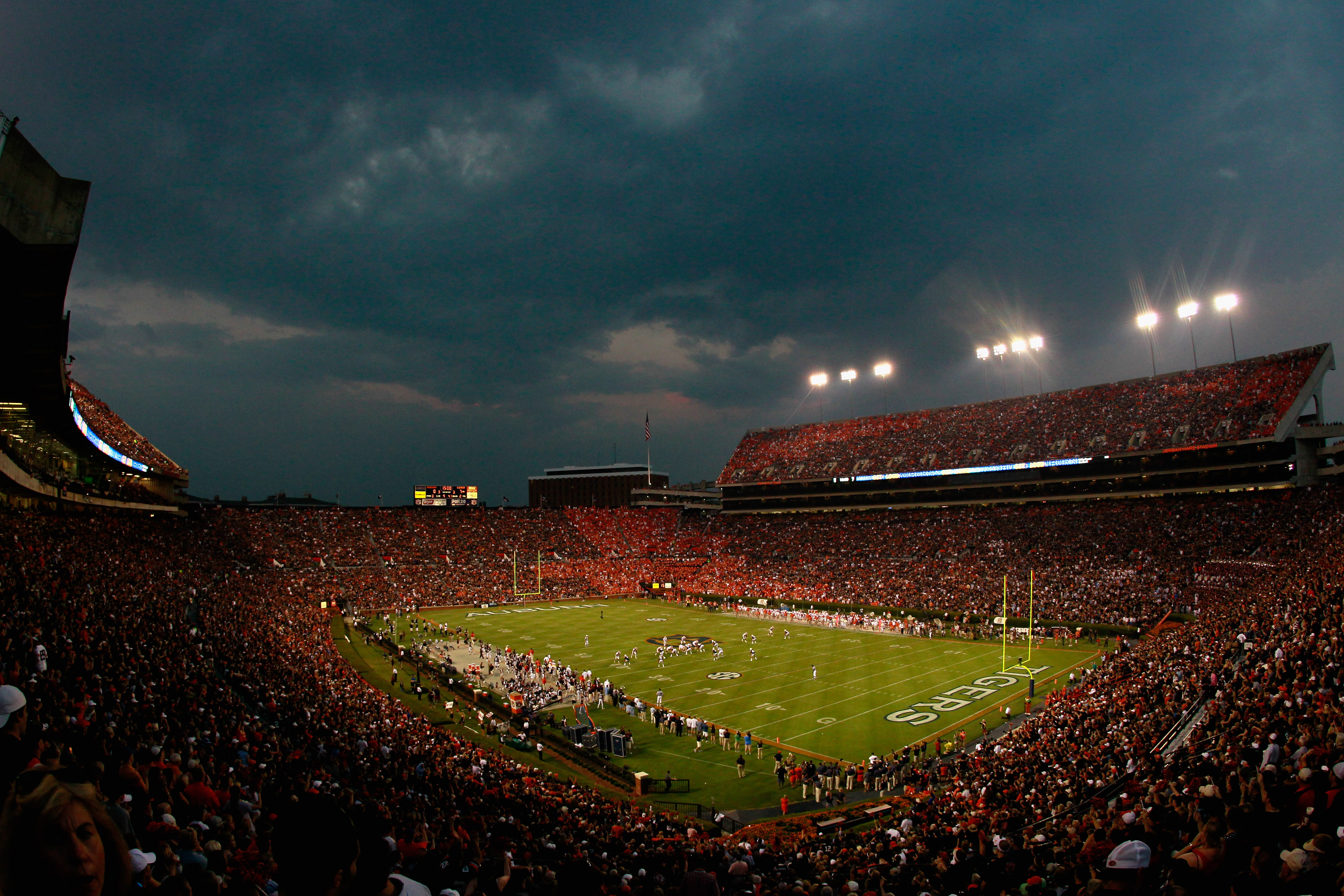 AUBURN, AL - SEPTEMBER 18:  A general view of Jordan-Hare Stadium during the game between the Auburn Tigers and the Clemson Tigers at Jordan-Hare Stadium on September 18, 2010 in Auburn, Alabama.  (Photo by Kevin C. Cox/Getty Images)