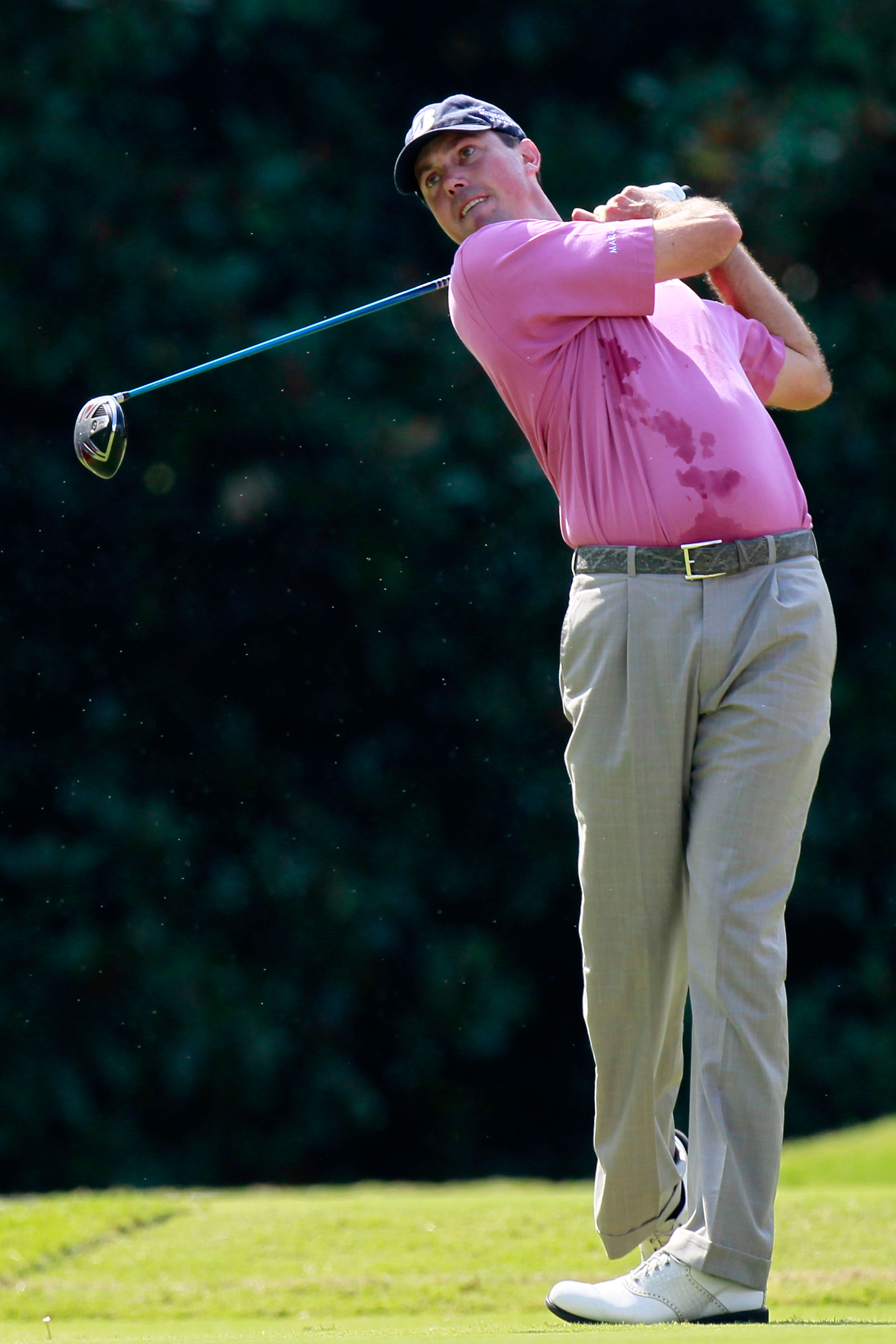 ATLANTA - SEPTEMBER 23:  Matt Kuchar hits a tee shot on the fifth hole during the first round of THE TOUR Championship presented by Coca-Cola at East Lake Golf Club on September 23, 2010 in Atlanta, Georgia.  (Photo by Kevin C. Cox/Getty Images)