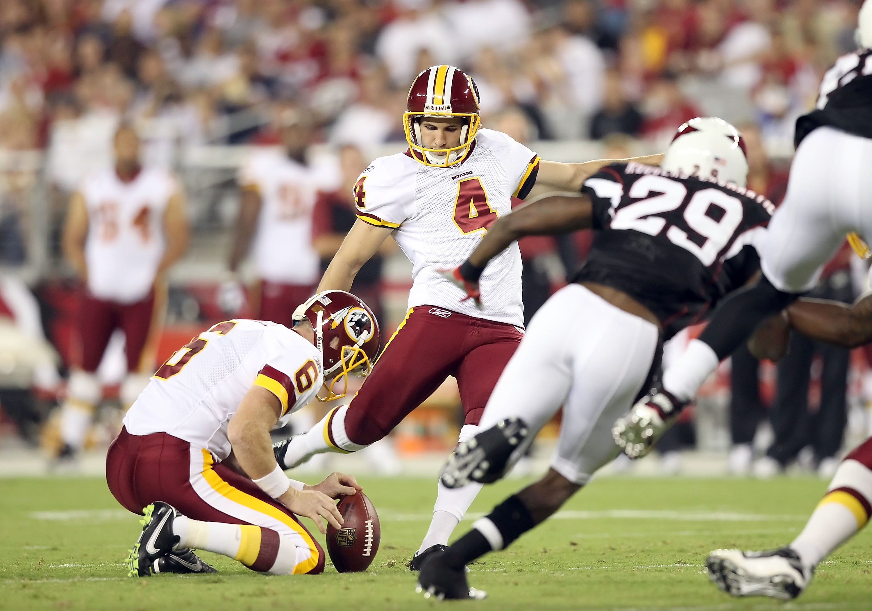 Before Redskins kicker Graham Gano booted field goals in the nation's capital, he kicked a game-winning field goal in the UFL Championship Game.