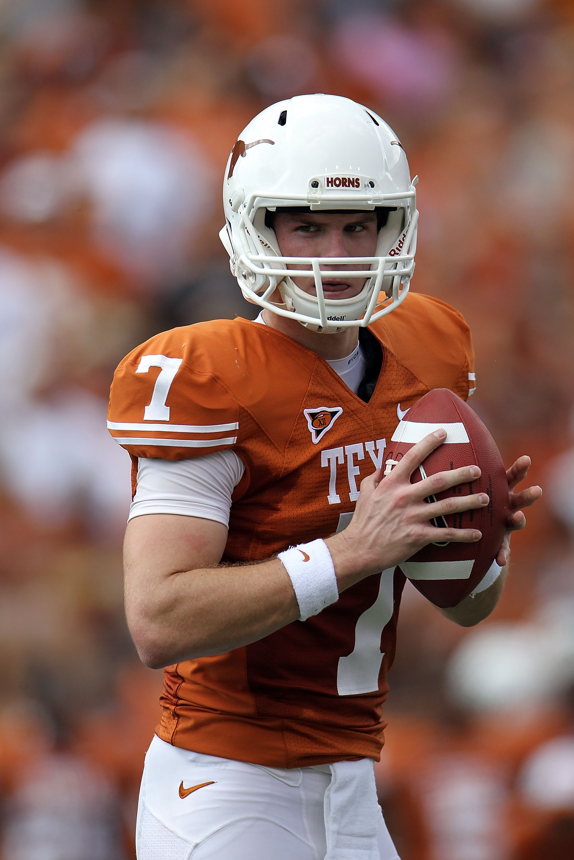 Can Garrett Gilbert lead Texas to a rebound victory over Oklahoma?