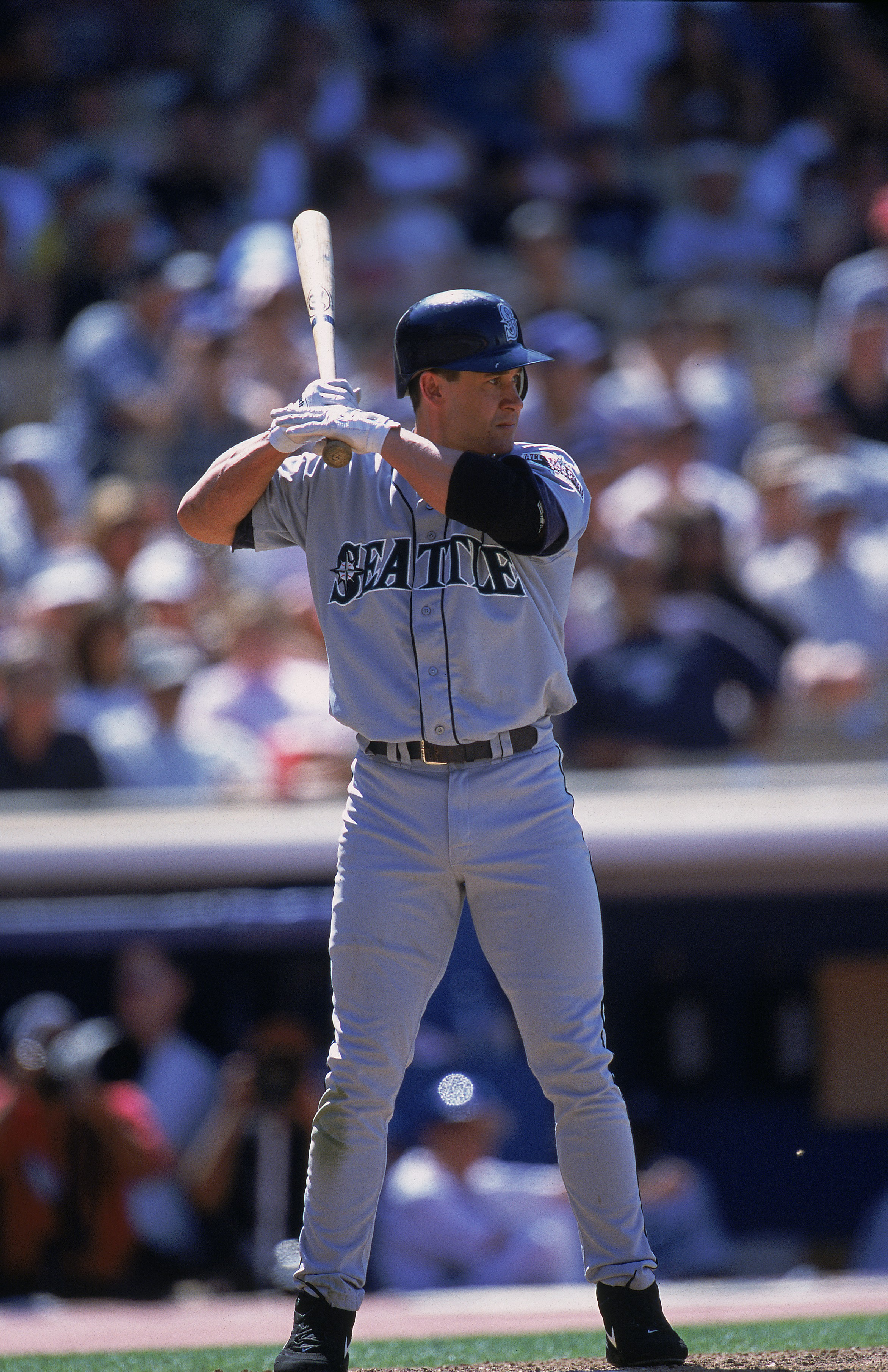 db8d383b1273 7 Jul 2001  Bret Boone  29 of the Seattle Mariners at bat during the