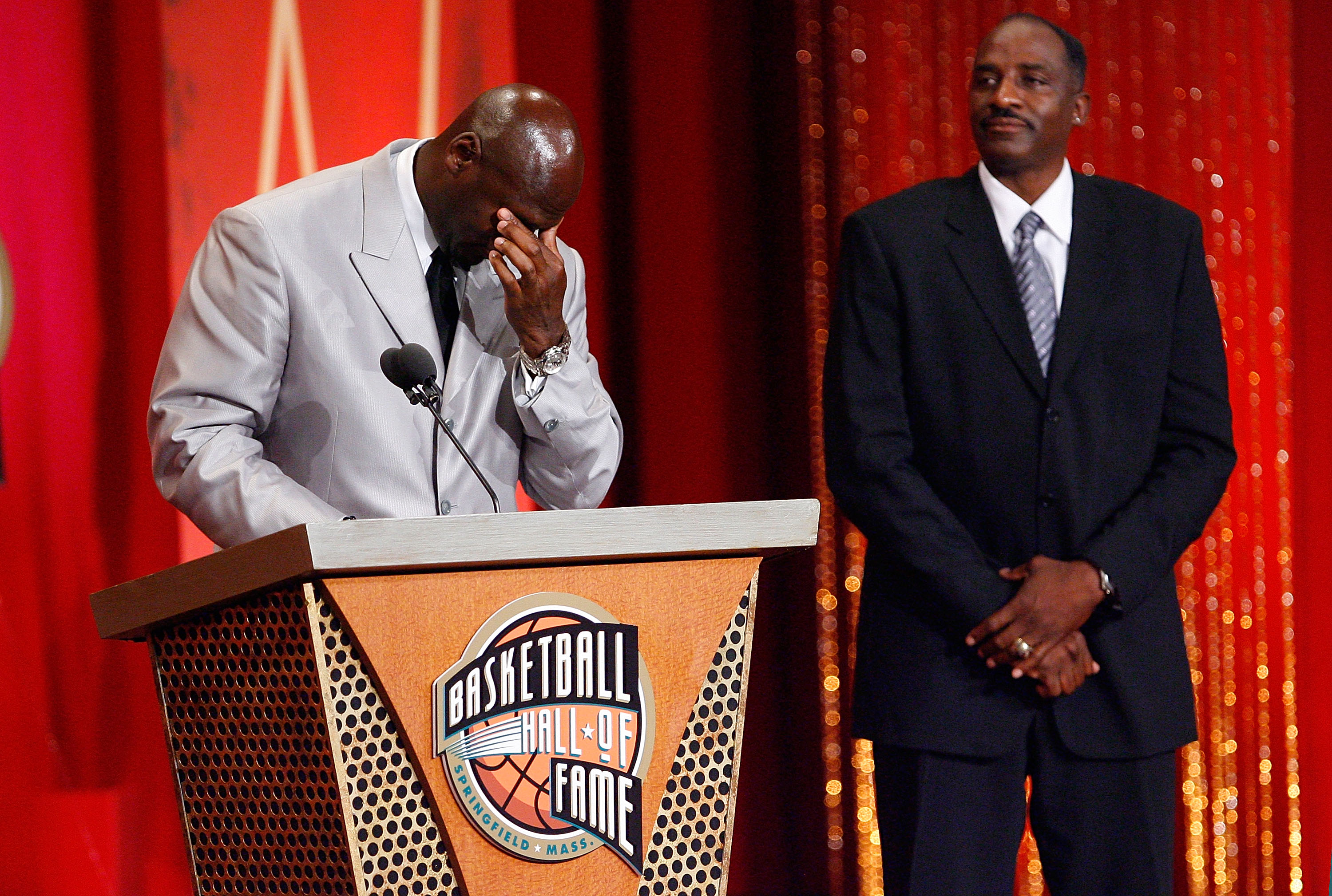 Thompson was there with MJ on induction day.