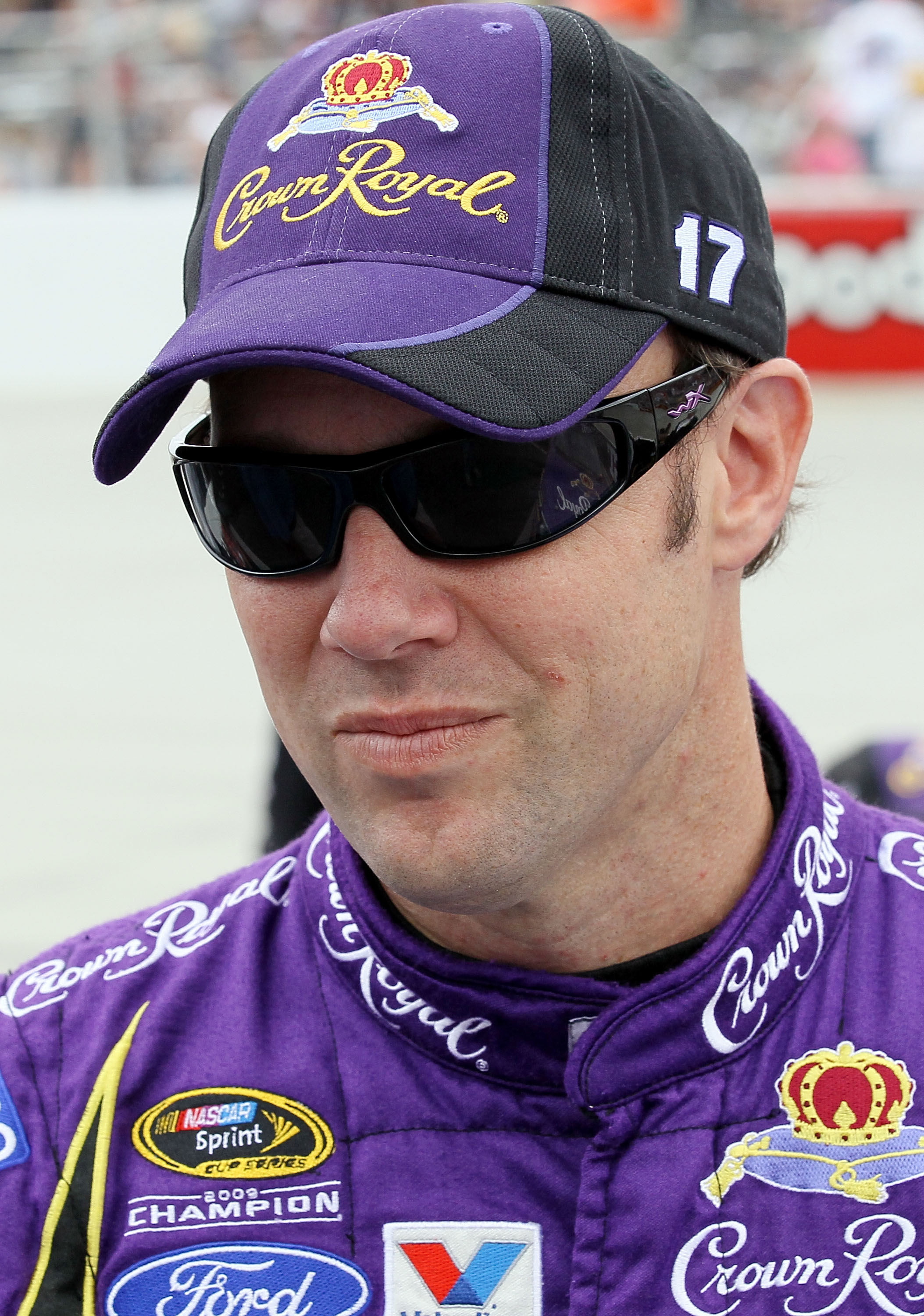 DOVER, DE - SEPTEMBER 26:  Matt Kenseth, driver of the #17 Crown Royal Ford, stands on the grid prior to the NASCAR Sprint Cup Series AAA 400 at Dover International Speedway on September 26, 2010 in Dover, Delaware.  (Photo by Jim McIsaac/Getty Images for