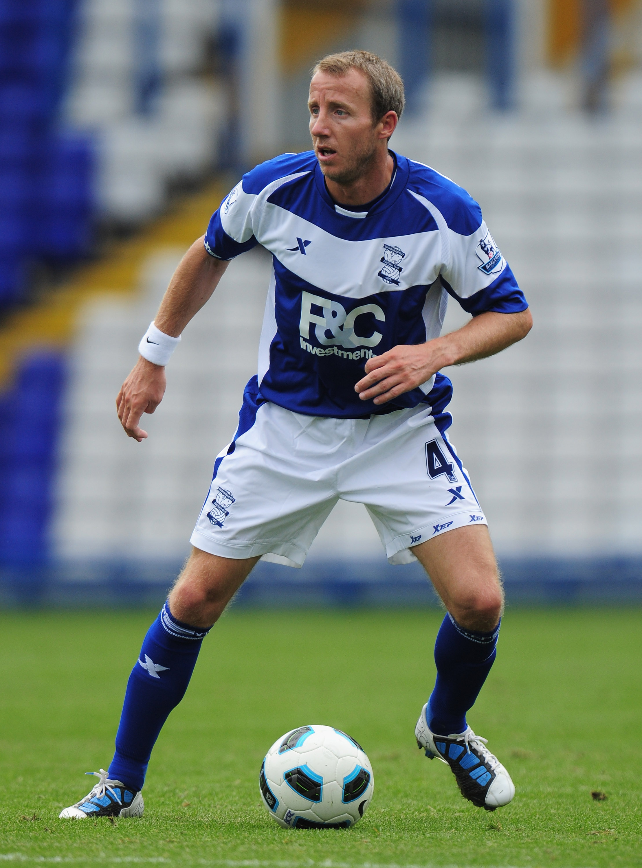 BIRMINGHAM, ENGLAND - AUGUST 07:  Lee Bowyer of Birmingham City in action during the friendly match between Birmingham City and Real Mallorca at St. Andrew's Stadium on August 7, 2010 in Birmingham, England.  (Photo by Shaun Botterill/Getty Images)