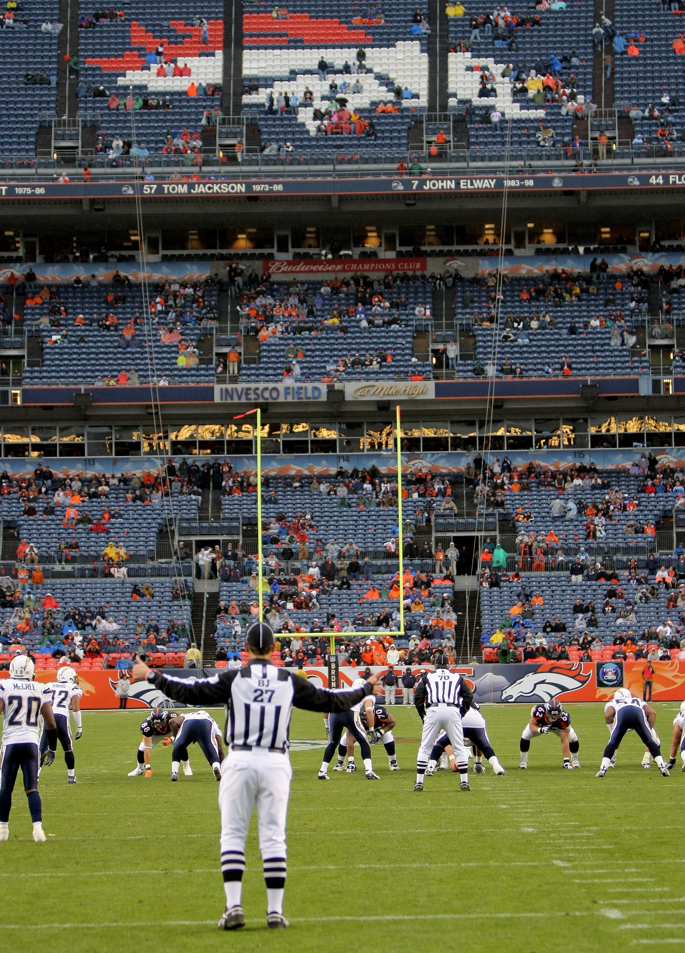 DENVER - OCTOBER 7:  The fans empty out of the stands in the fourth quarter as the San Diego Chargers defeated the Denver Broncos 41-3 at Invesco Field at Mile High on October 7, 2007 in Denver, Colorado.  (Photo by Doug Pensinger/Getty Images)