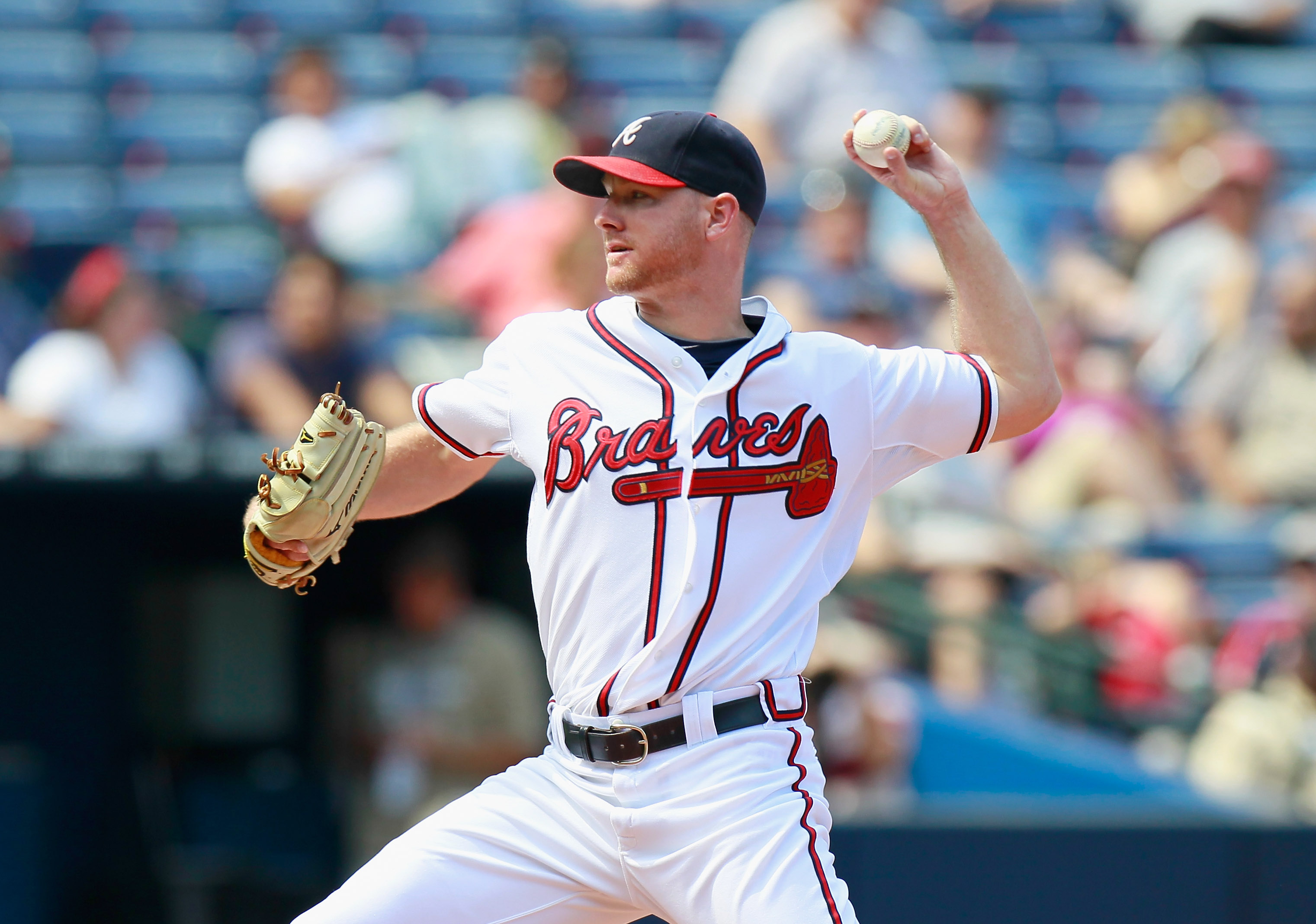 ATLANTA - SEPTEMBER 15:  Pitcher Jonny Venters #39 of the Atlanta Braves against the Washington Nationals at Turner Field on September 15, 2010 in Atlanta, Georgia.  (Photo by Kevin C. Cox/Getty Images)