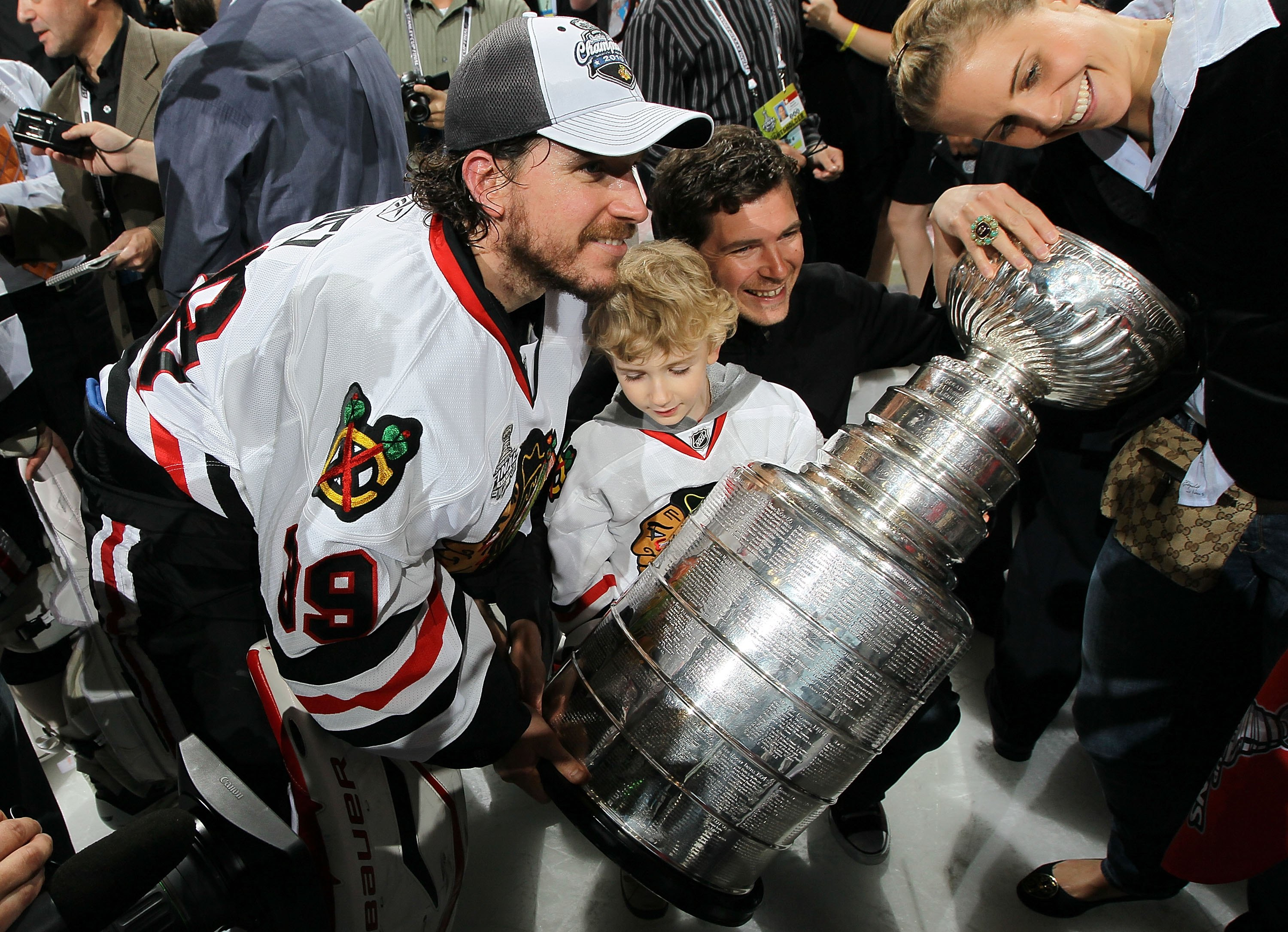 PHILADELPHIA - JUNE 09:  Cristobal Huet #39 of the Chicago Blackhawks hoists the Stanley Cup after teammate Patrick Kane scored the game-winning goal in overtime to defeat the Philadelphia Flyers 4-3 and win the Stanley Cup in Game Six of the 2010 NHL Sta