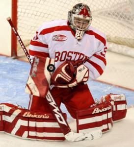 Goalie Kieren Millan - taken from boston.com