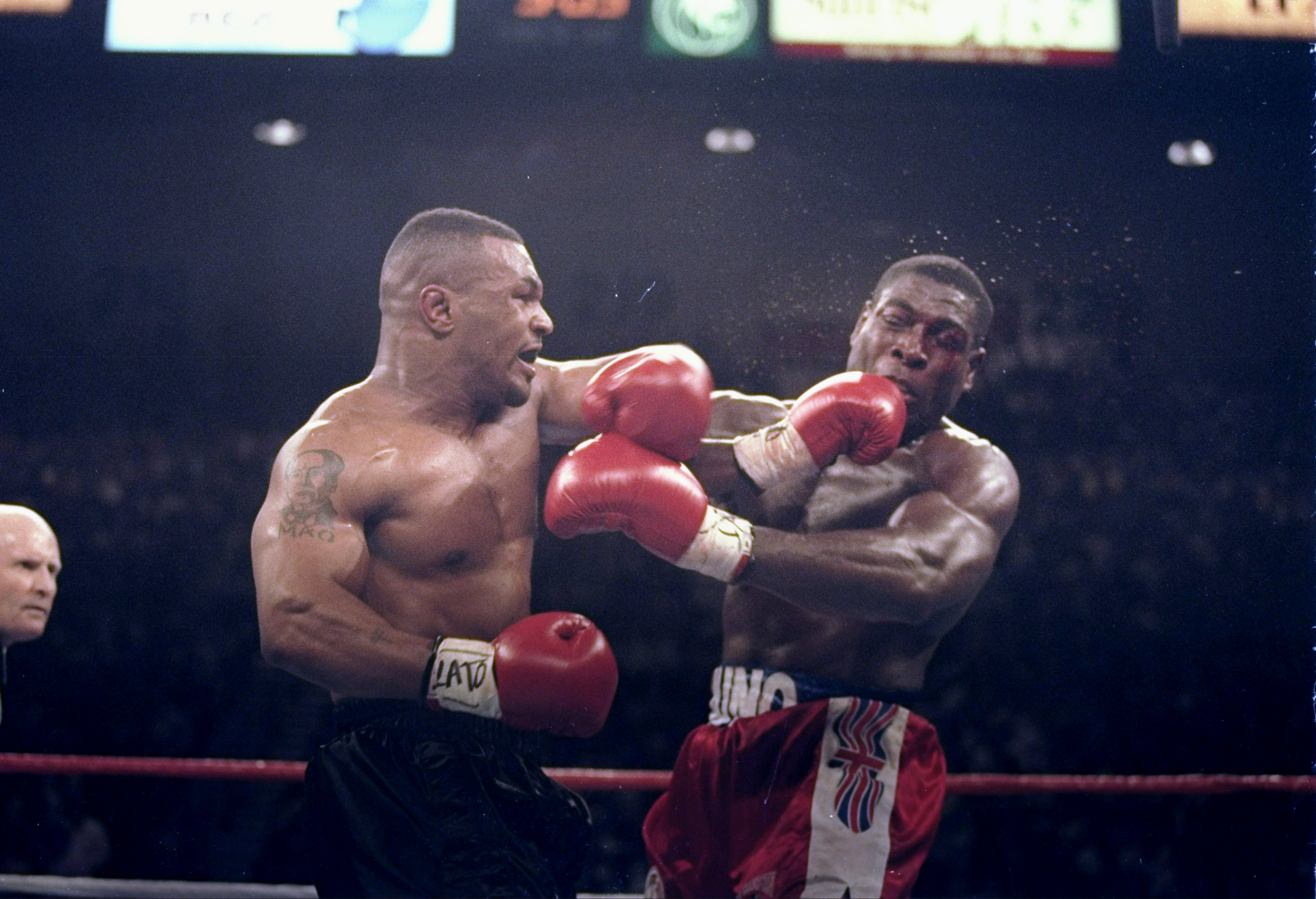 MIKE TYSON MICHAEL SPINKS FIGHT 1988  91 SECONDS ORIGINAL 8 X 10 PHOTO  2