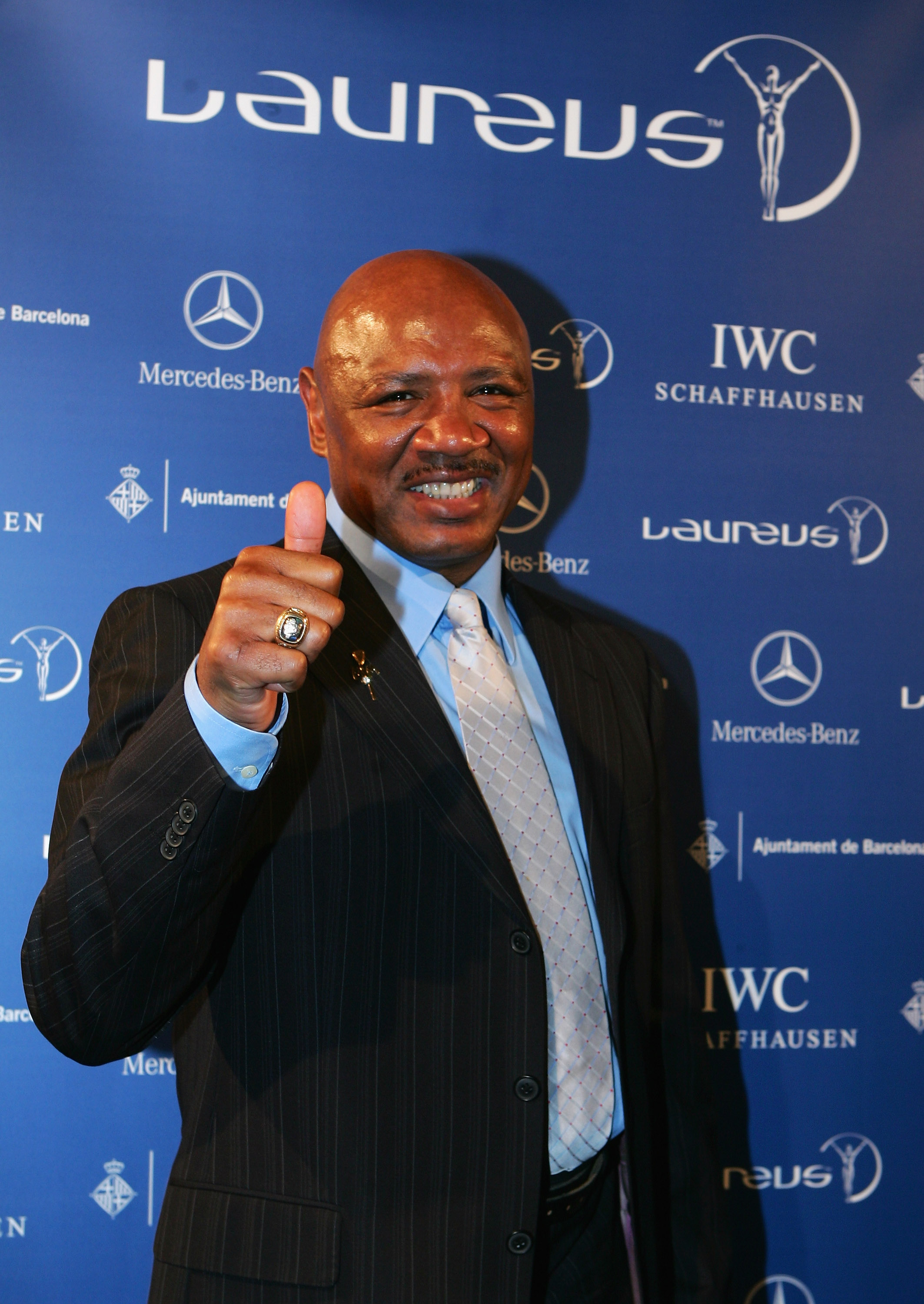 BARCELONA, SPAIN - APRIL 01:  Marvin Hagler attends the Laureus Welcome Party at Shoko prior to the Laureus Sports Awards on April 1, 2007 in Barcelona, Spain.   (Photo by Jamie McDonald/Getty Images for Laureus)