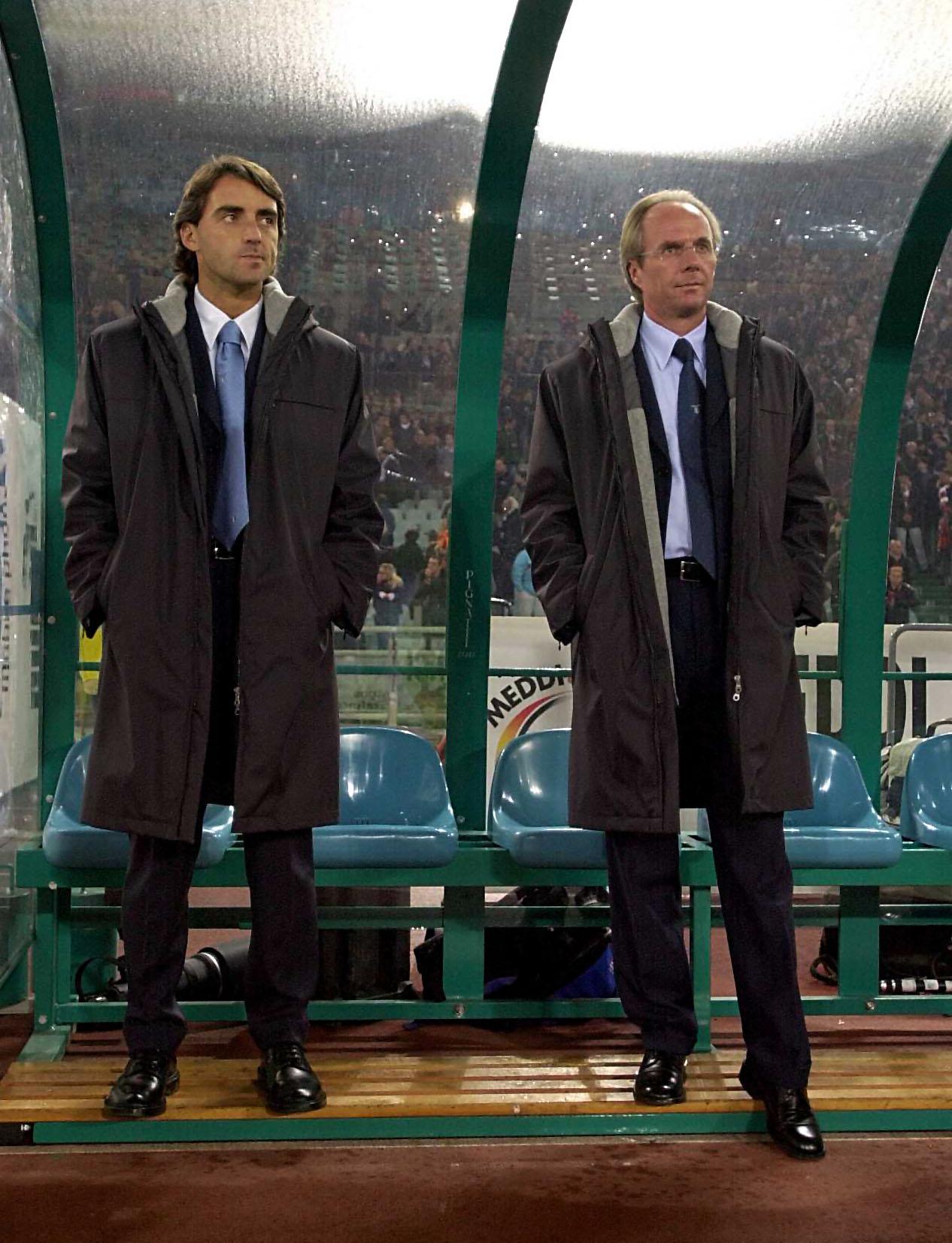 Mancini assisted Sven Goran Eriksson at Lazio.
