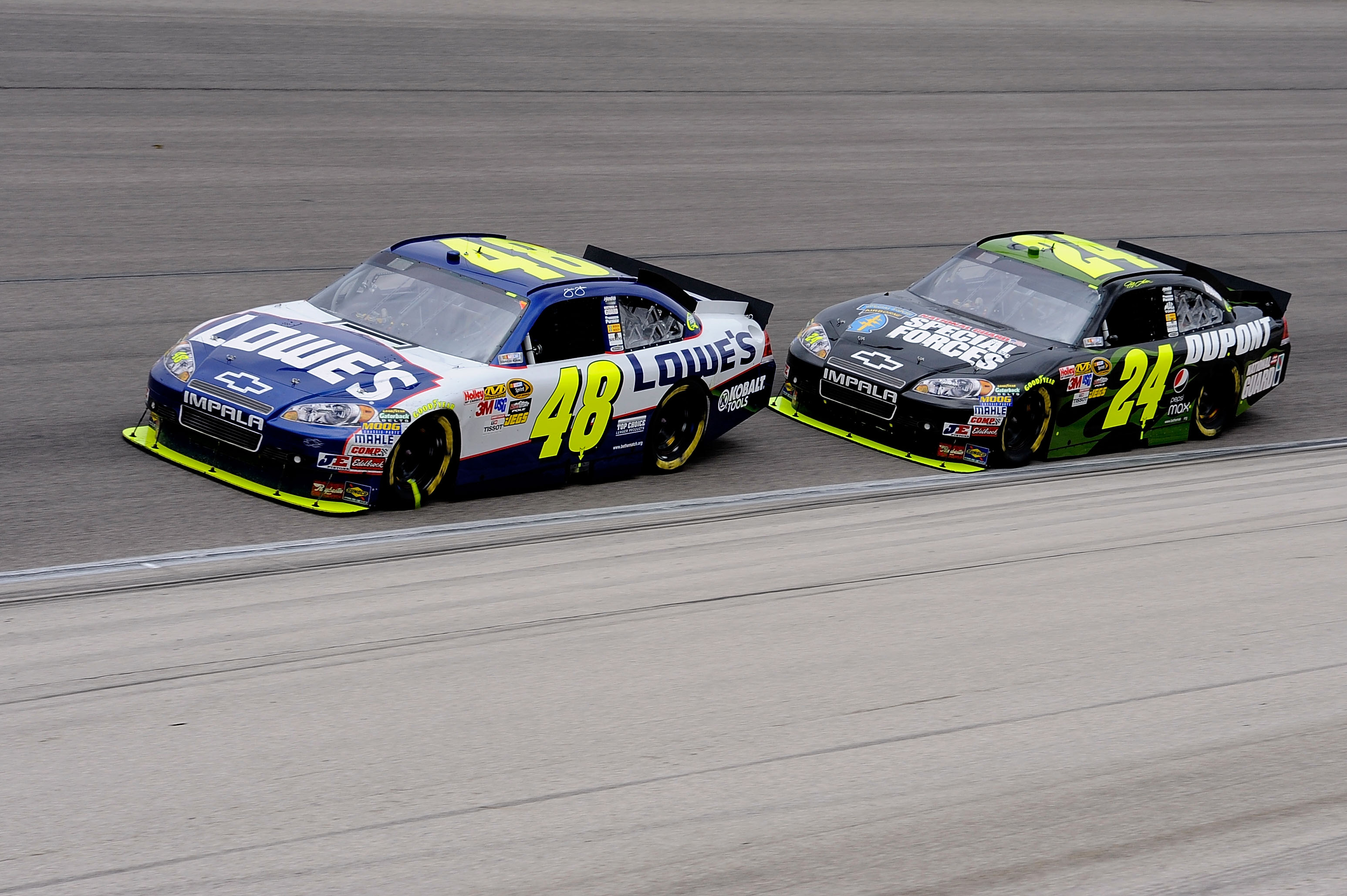 A tangle with teammate Jimmie Johnson raised eyebrows during the Texas spring race.