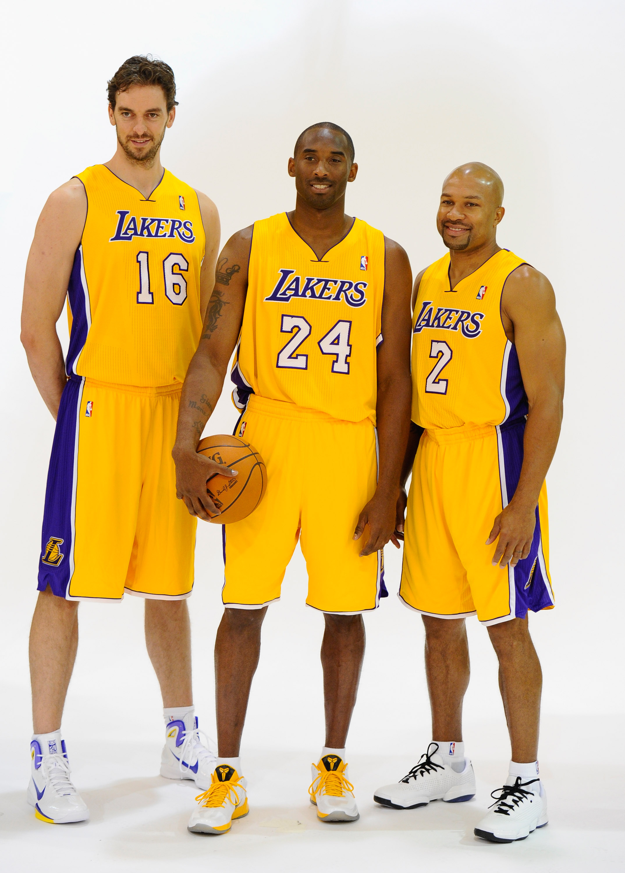The Lakers are led by veteran players Pau Gasol, Kobe Bryant, and Derek Fisher