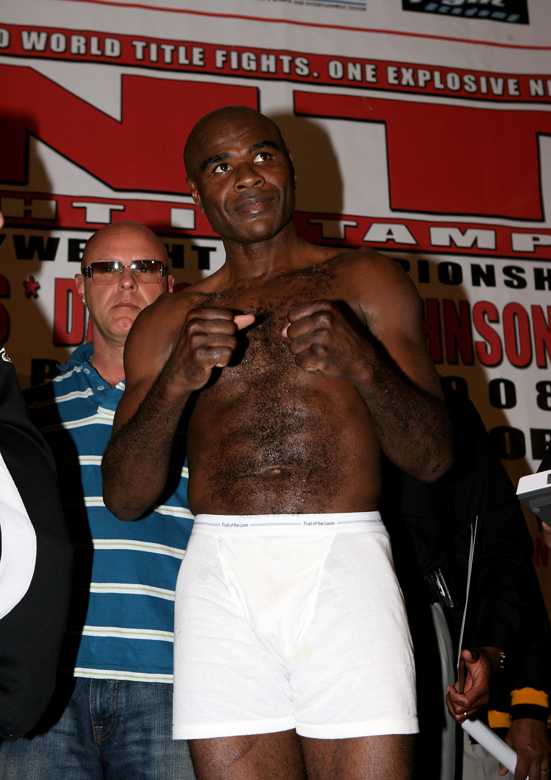 TAMPA, FLORIDA - APRIL 11: Glen Johnson poses during a weigh-in at The Westin Hotel on April 11, 2008 in Tampa, Florida. Chad Dawson and Glen Johnson are scheduled to fight at the St.Pete Times Forum on April 12 in Tampa, Florida. (Photo by John Gichigi/G