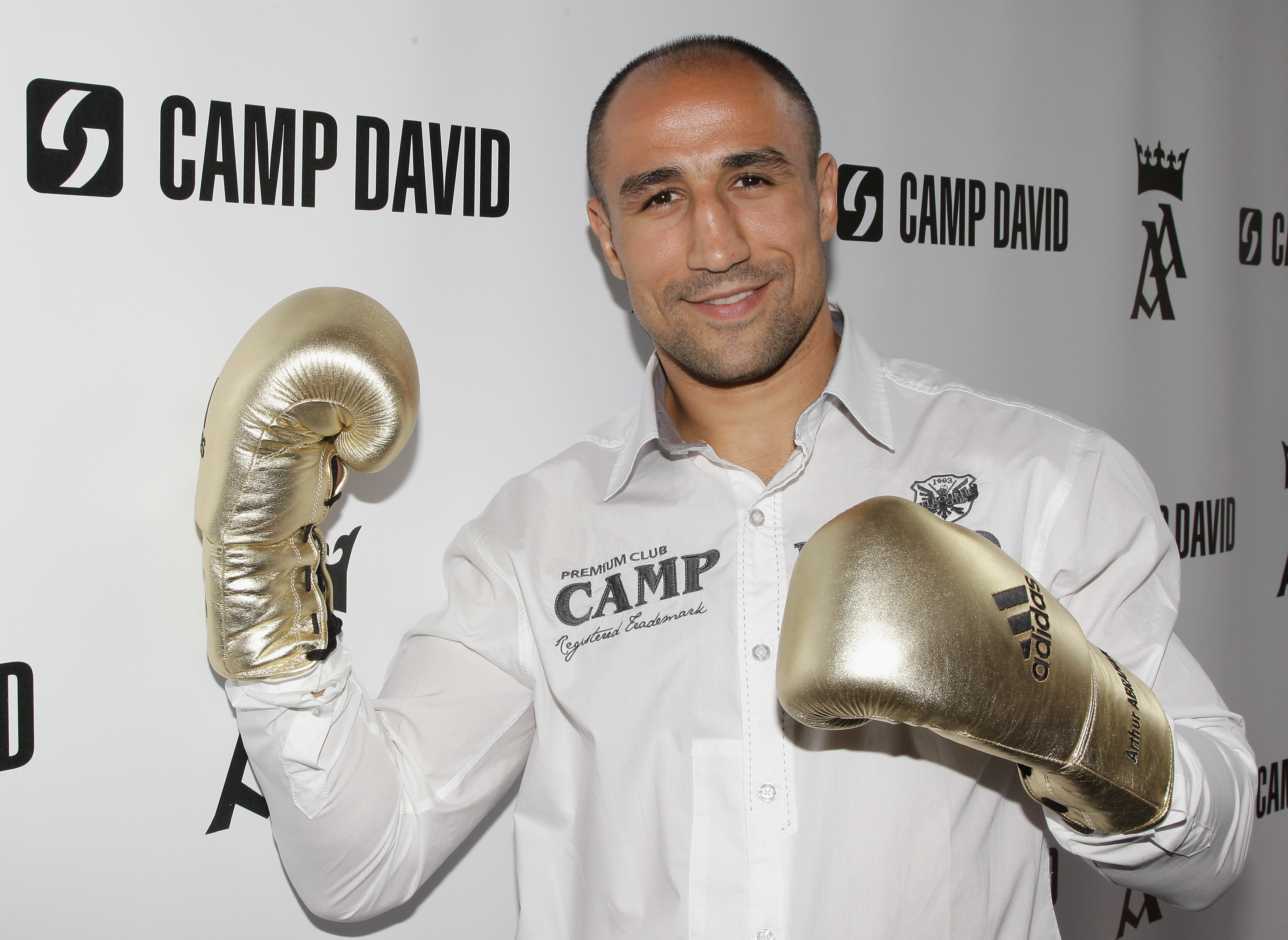 BERLIN - SEPTEMBER 16:  Boxer Arthur Abraham poses during a press conference on September 16, 2010 in Berlin, Germany. Abraham signed a co-operation with German retail clothes company Camp David.  (Photo by Andreas Rentz/Getty Images)