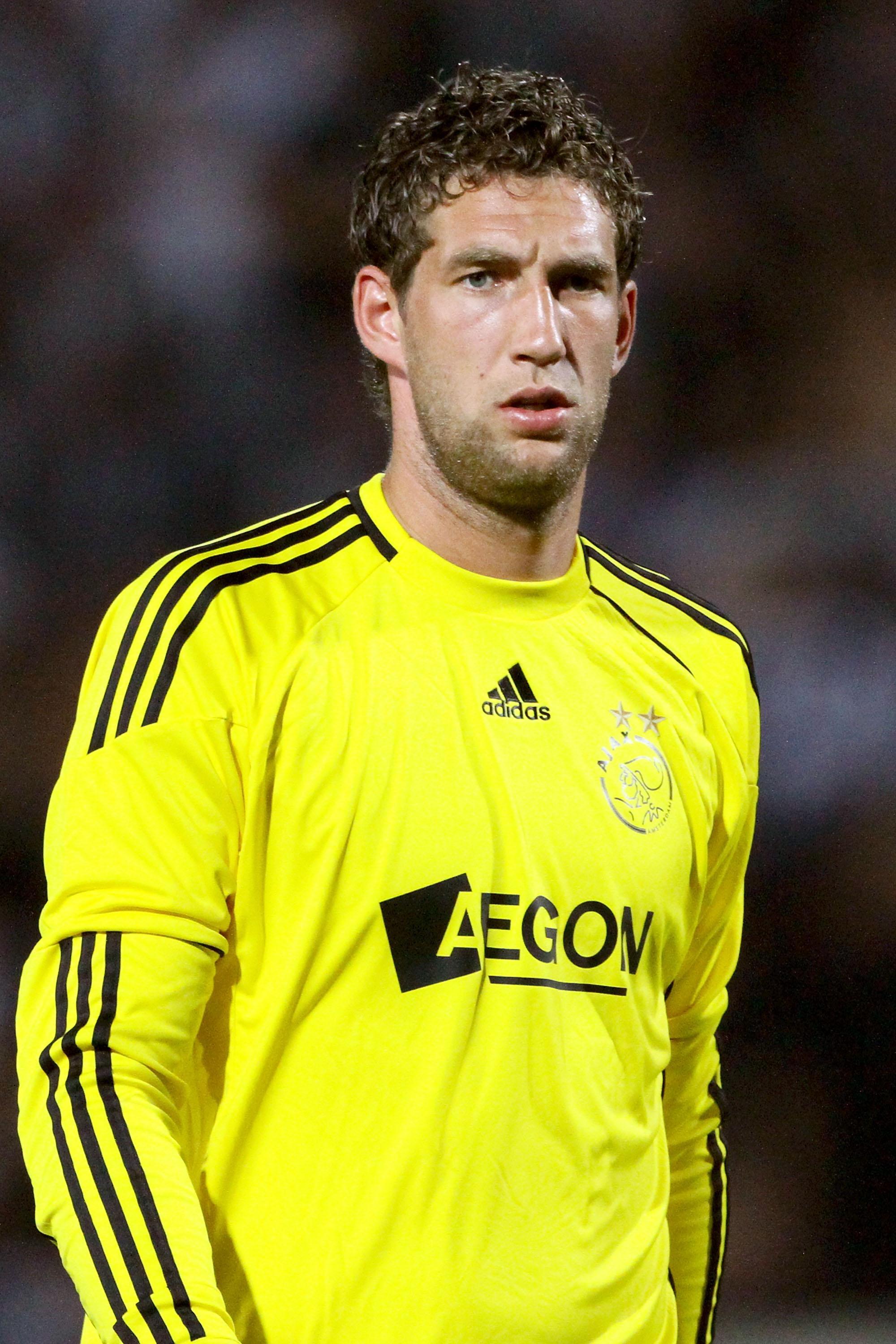 THESSALONIKI, GREECE - AUGUST 04:  Maarten Stekelenburg of Ajax during the Uefa Champions League qualifying match between Paok and Ajax at Toumba Stadium on August 4, 2010 in Thessaloniki, Greece.  (Photo by Getty Images/Getty Images)