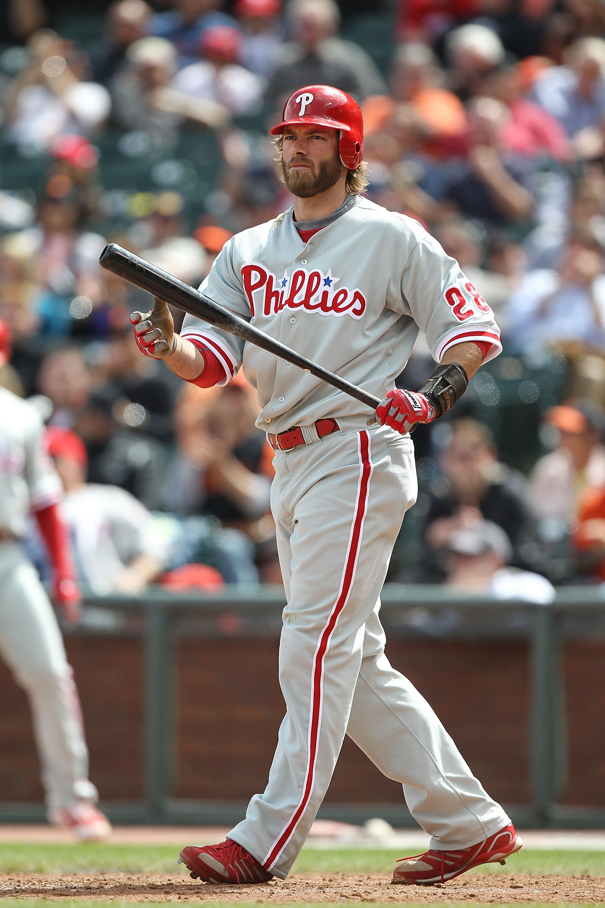 SAN FRANCISCO - APRIL 28:  Jayson Werth #28 of the Philadelphia Phillies bats against the San Francisco Giants during an MLB game at AT&T Park on April 28, 2010 in San Francisco, California.  (Photo by Jed Jacobsohn/Getty Images)