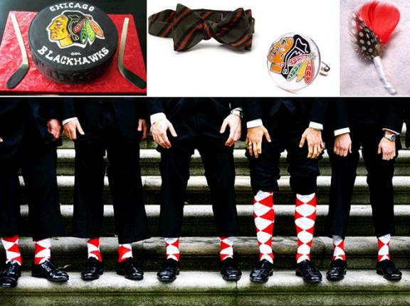 Photo courtesy: http://www.onewed.com/blog/savvy-scoop/category/accessories/2010/06/10/sports-inspired-weddings-chicago-blackhawks-win-stanley-cup/