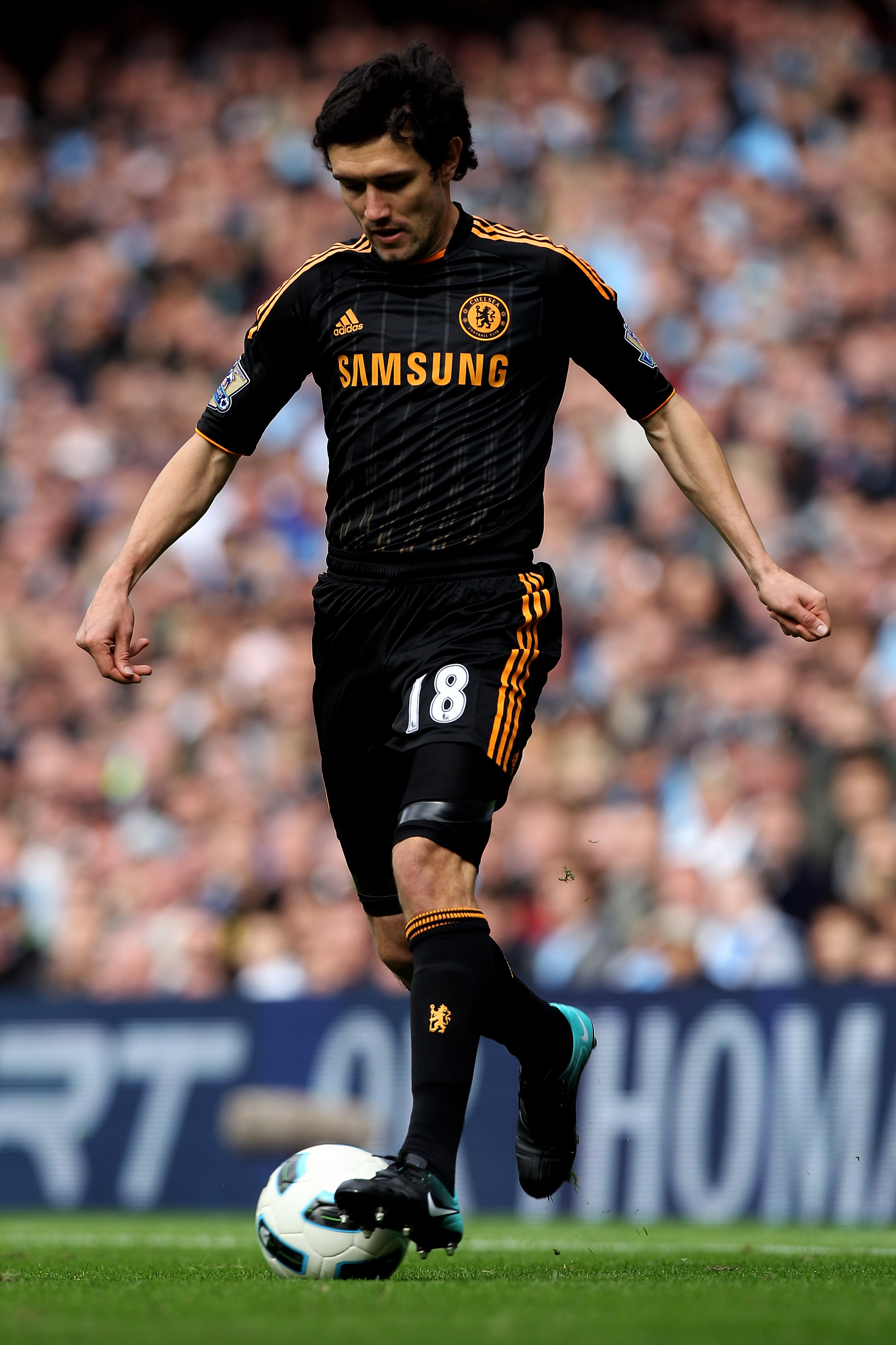 MANCHESTER, ENGLAND - SEPTEMBER 25:   Yury Zhirkov of Chelsea in action during the Barclays Premier League match between Manchester City and Chelsea at the City of Manchester Stadium on September 25, 2010 in Manchester, England.  (Photo by Michael Steele/