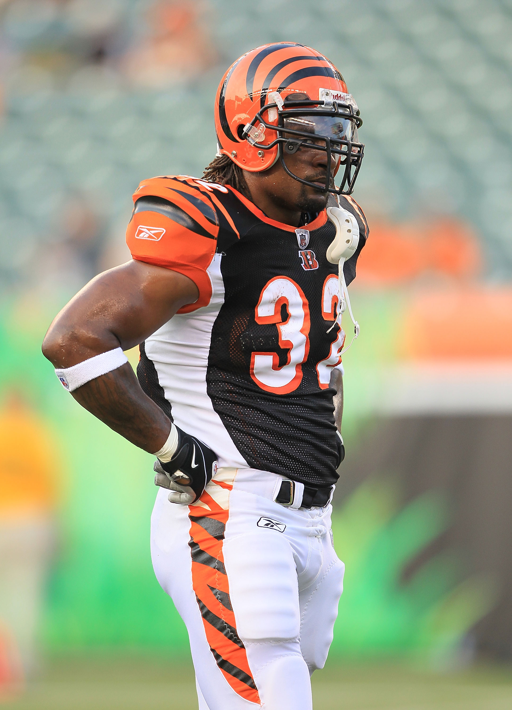 CINCINNATI - AUGUST 20:  Cedric Benson #32 of the Cincinnati Bengals is pictured before the NFL preseason game against the Philadelphia Eagles at Paul Brown Stadium on August 20, 2010 in Cincinnati, Ohio.  (Photo by Andy Lyons/Getty Images)