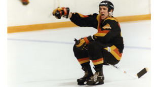Williams was famous for his stick-riding goal celebration.