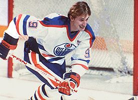"""Gretzky holds a 61 NHL records; They don't call him """"The Great One"""" for nothing!"""
