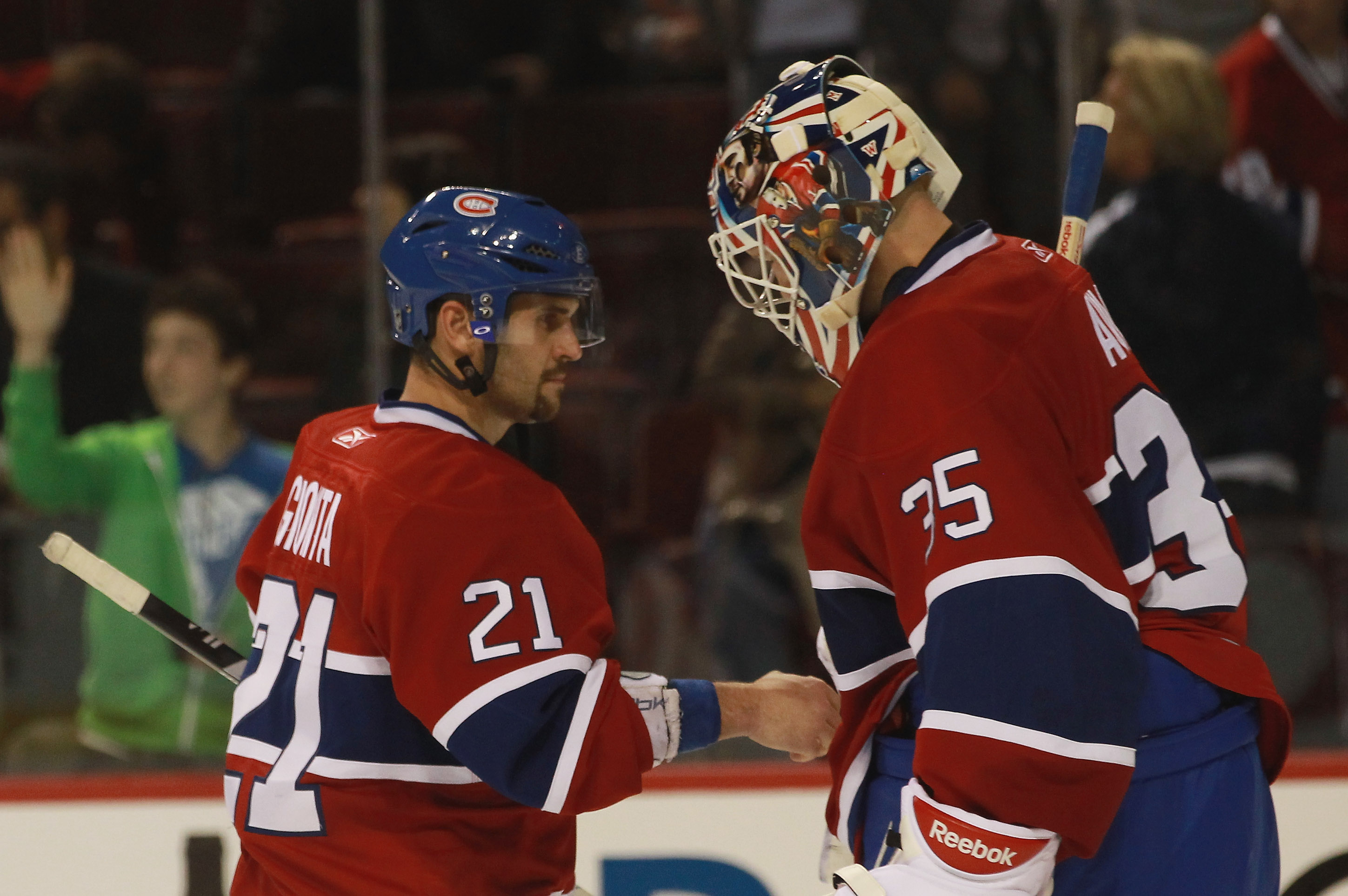 Brian Gionto (21) was named the 28th team captain for the Canadiens in history.