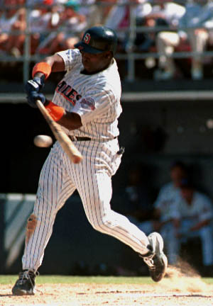 Tony Gwynn hit .368 in the 1984 NLCS to help the Padres complete their dramatic comeback against the Chicago Cubs