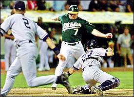 Mike Mussin's Game 3 gem and Derek Jeter's heads up play allowed the Yankees to get back into the 2001 ALDS.