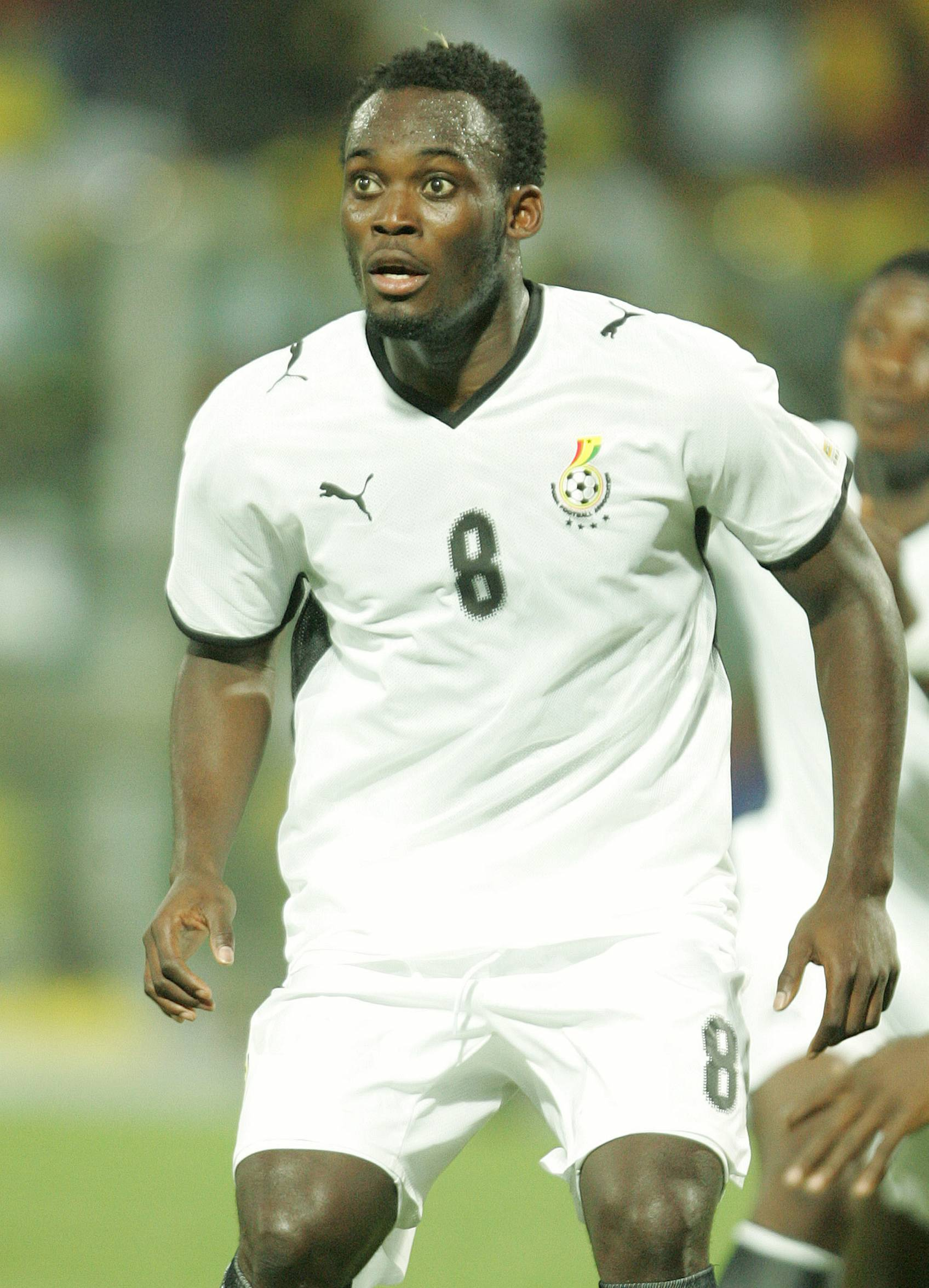 ACCRA, GHANA - JANUARY 20:  Micheal Essien of Ghana in action during the African Cup of Nations Group A match between Ghana and Guinea held at the Ohene Djan Stadium on January 20, 2008 in Accra, Ghana.  (Photo by Lefty Shivambu/Gallo Images/Getty Images)